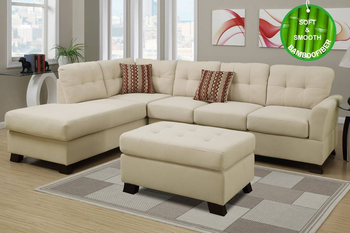Sofas Center : U Shaped Sectional With Ottoman Show Home Design regarding Sofa With Chaise and Ottoman (Image 29 of 30)