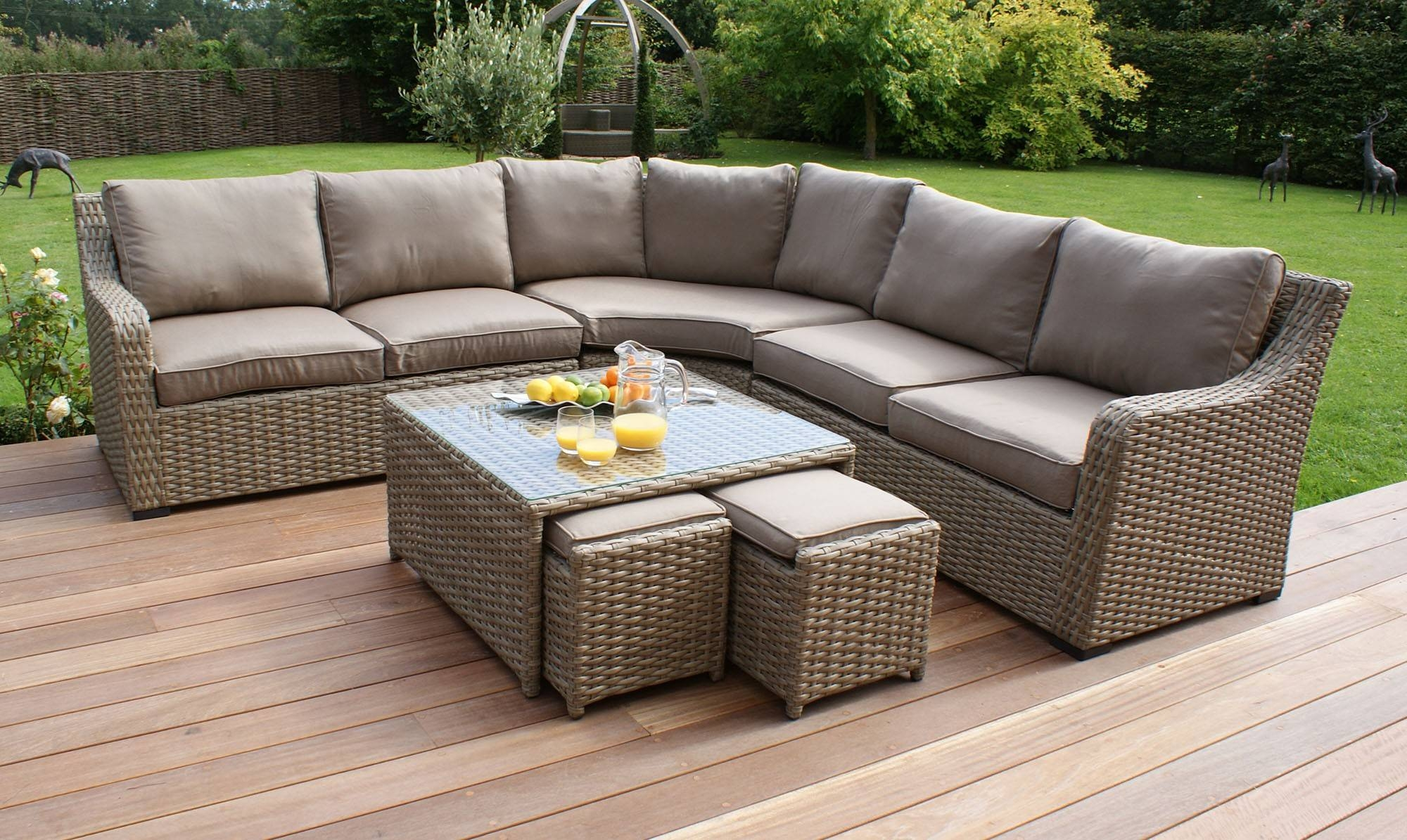 Sofas Center : Us Stock Piece Complete Outdoorindoor Rattan Wicker within Corner Sofa Chairs (Image 27 of 30)