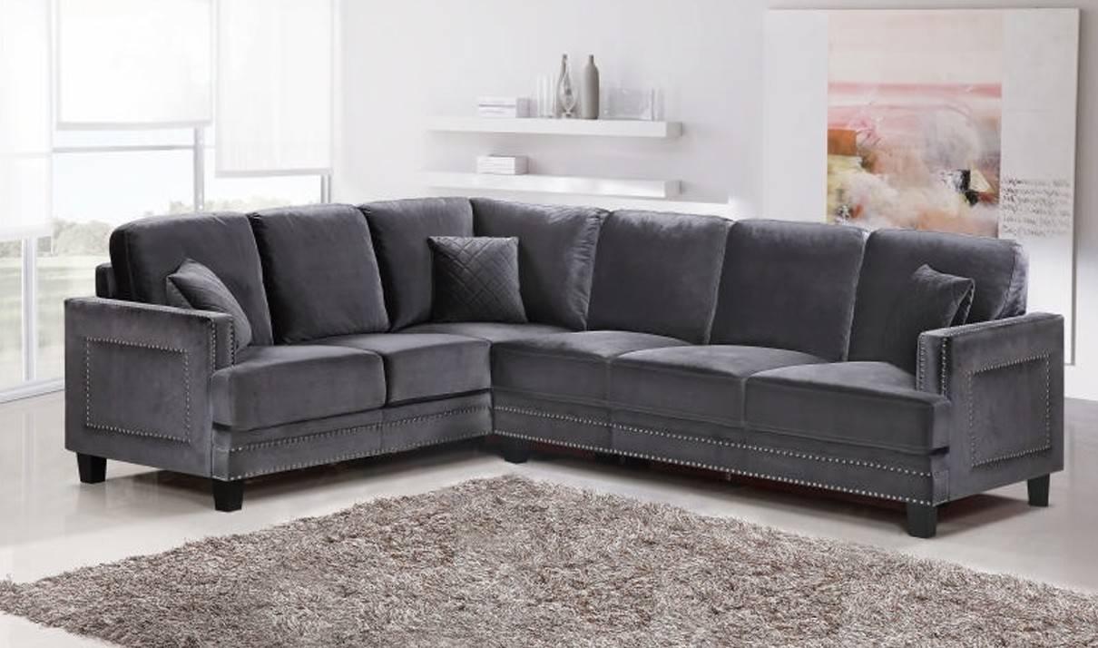 Sofas Center : Velour Sectional Sofa Hereo Blue Velvet Financing for Austin Sectional Sofa (Image 29 of 30)