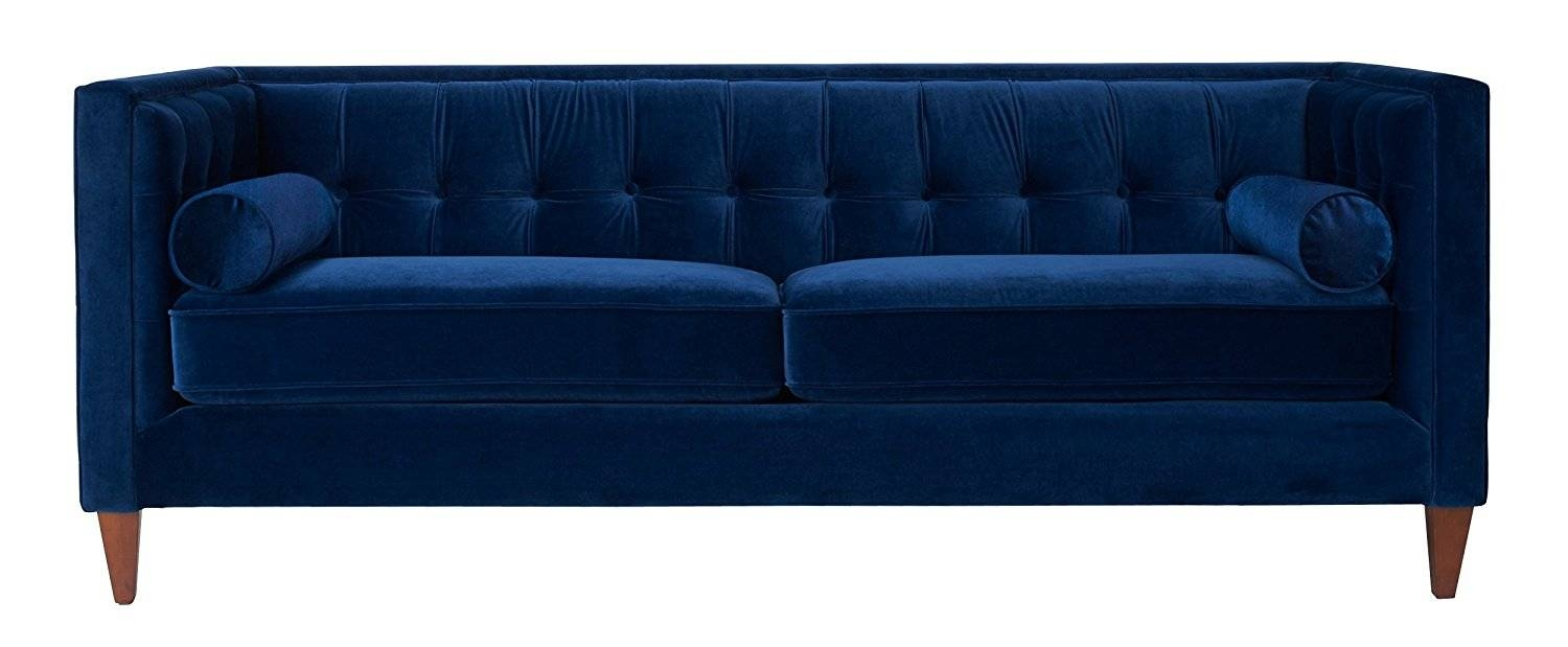 Sofas Center : Velvet Blue Sofa Unforgettable Photo Inspirations for Blue Sofa Chairs (Image 30 of 30)