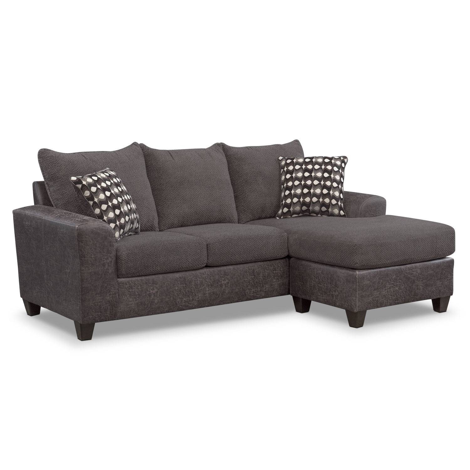 Sofas & Couches | Living Room Seating | Value City Furniture within Long Chaise Sofa (Image 17 of 25)