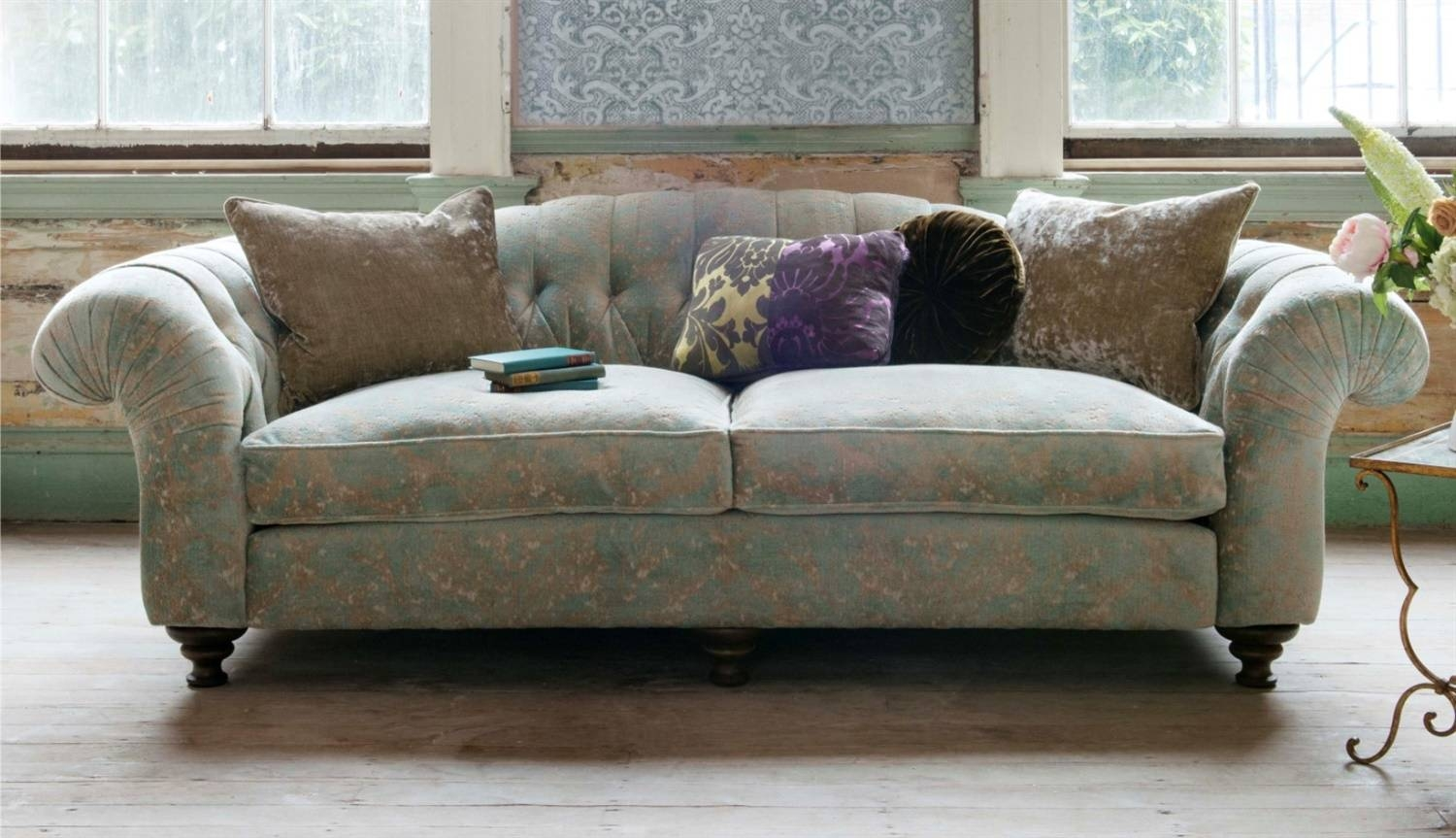 Sofas - Luxury Handcrafted British Fabric Sofas intended for Elegant Fabric Sofas (Image 24 of 30)