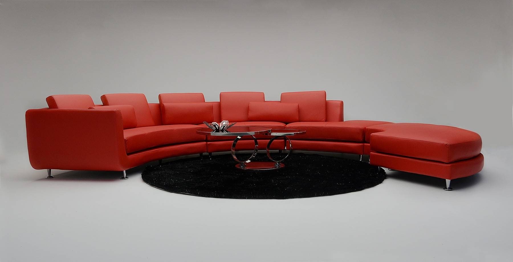 Sofas: Luxury Your Living Room Sofas Design With Red Sectional intended for Curved Sectional Sofa With Recliner (Image 29 of 30)