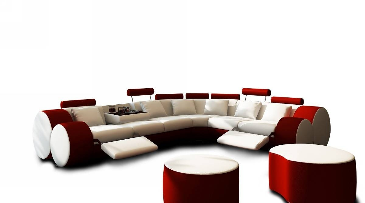 Sofas: Luxury Your Living Room Sofas Design With Red Sectional with Red Microfiber Sectional Sofas (Image 27 of 30)