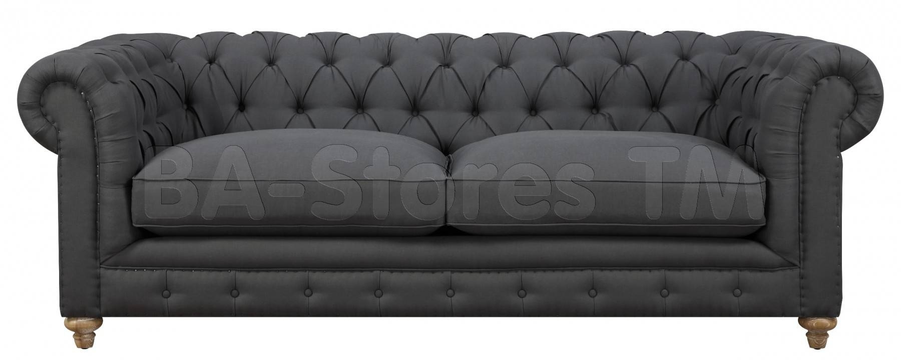 Sofas: Oxford Grey Linen Sofa Tov-S34/6 - Ba Stores for Tufted Linen Sofas (Image 26 of 30)