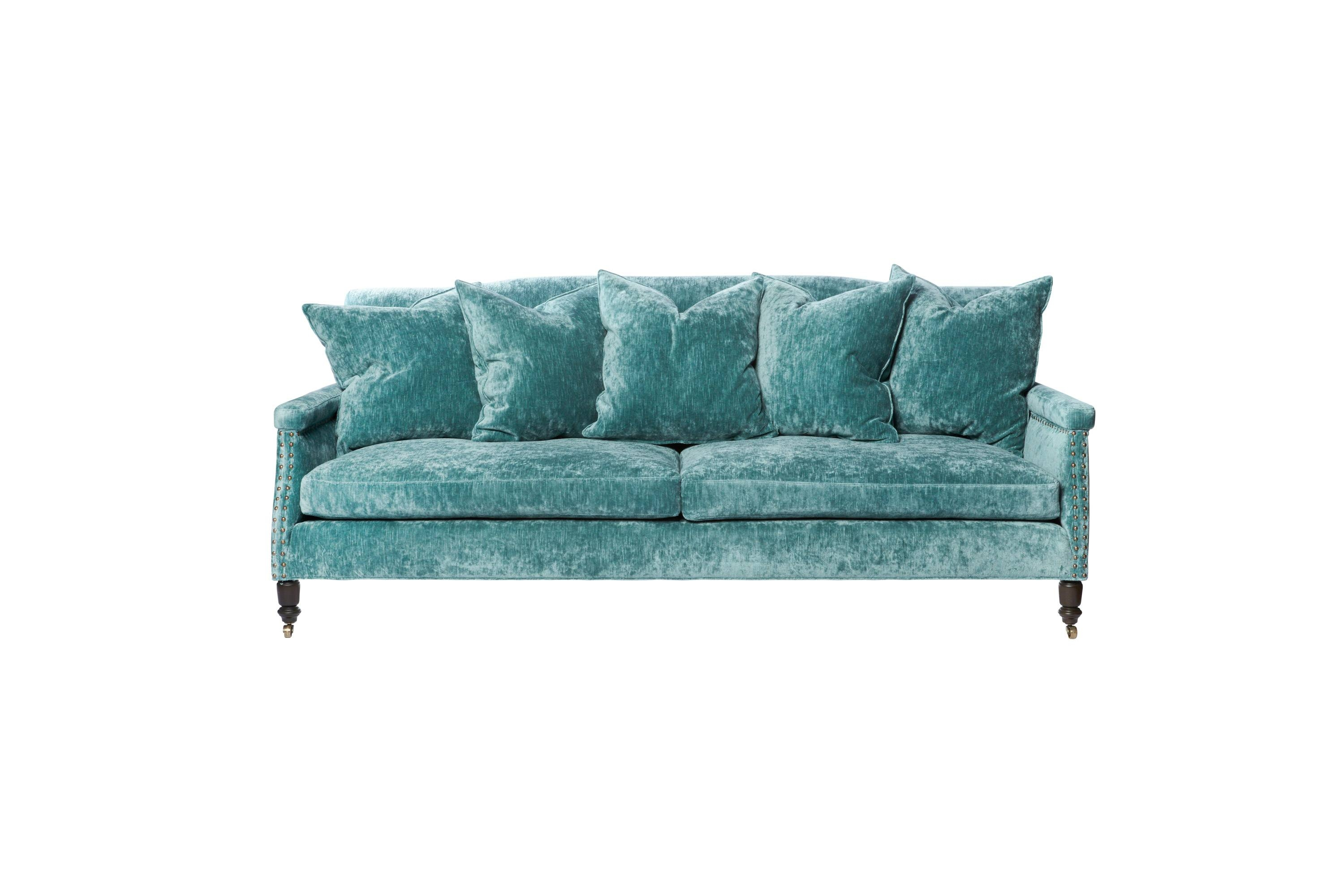 Sofas throughout Teal Sofa Slipcovers (Image 27 of 30)