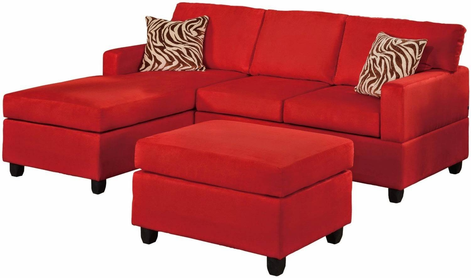 Sofas: Wrap Around Couch | Red Sectional Sofa | Tan Sectional With  Regarding Red Microfiber
