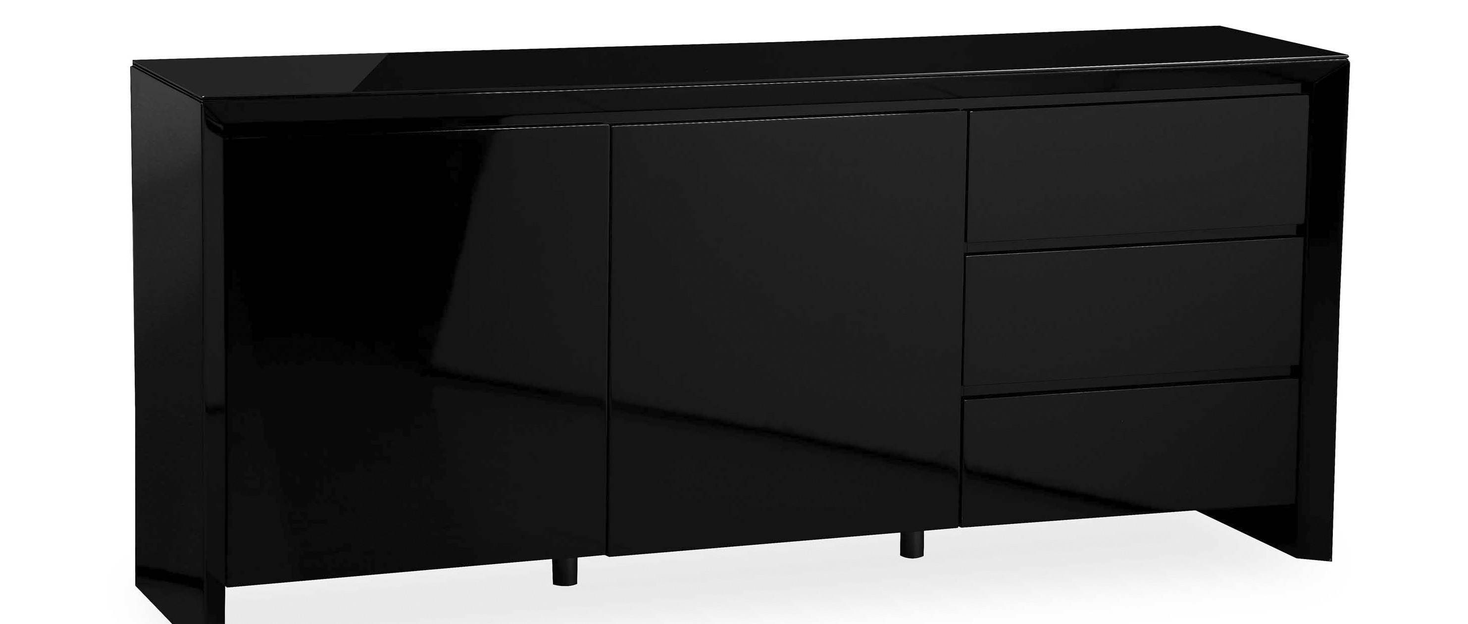 Soho - Extra Large Sideboard - Black High Gloss regarding Ready Assembled Sideboards (Image 29 of 30)