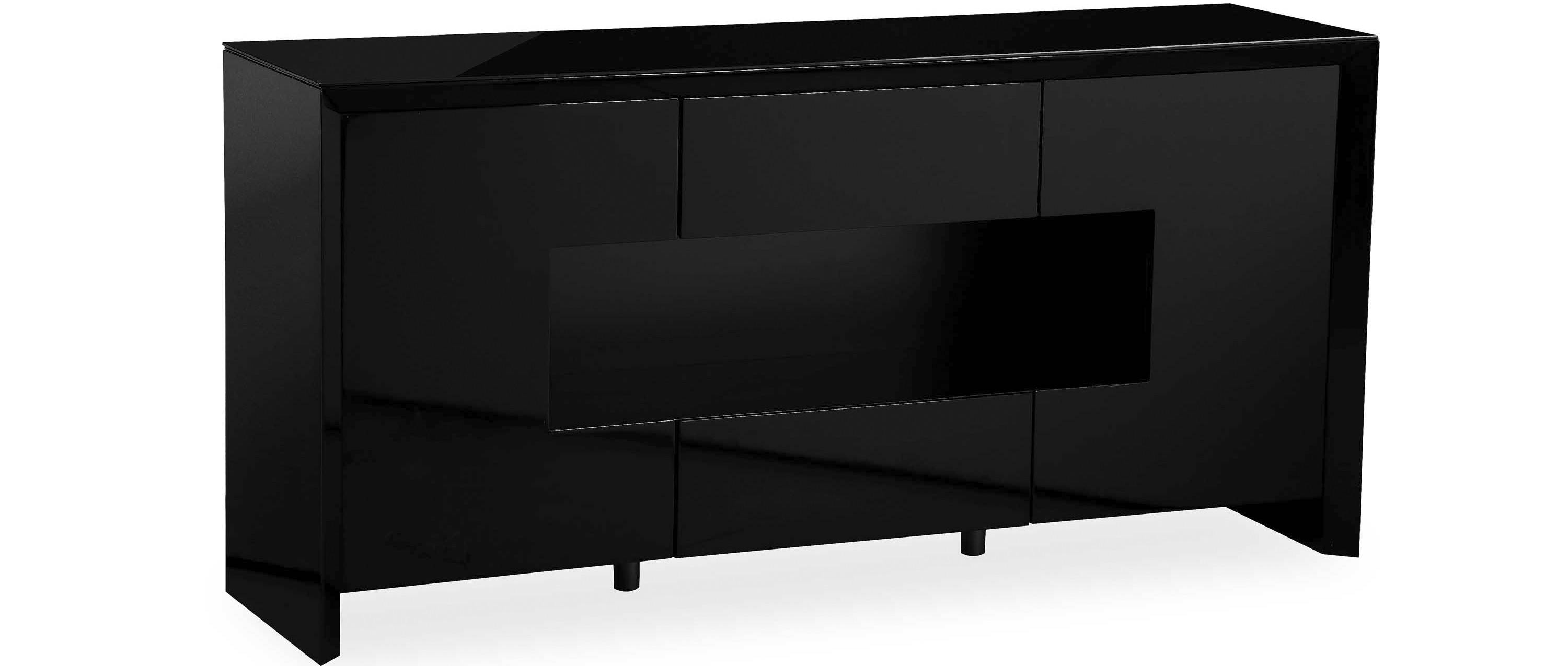 Soho - L.e.d. Display Sideboard - Black High Gloss regarding High Gloss Black Sideboards (Image 29 of 30)