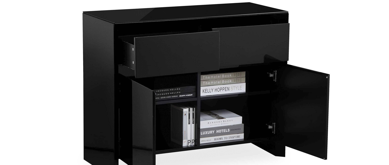 Soho - Medium Sideboard - Black High Gloss inside Black Gloss Sideboards (Image 29 of 30)