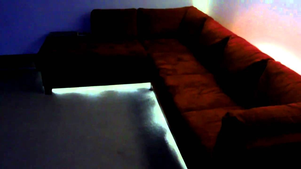 Soho Red Led Lighting On Sectional Couch - Youtube pertaining to Sofas With Lights (Image 28 of 30)
