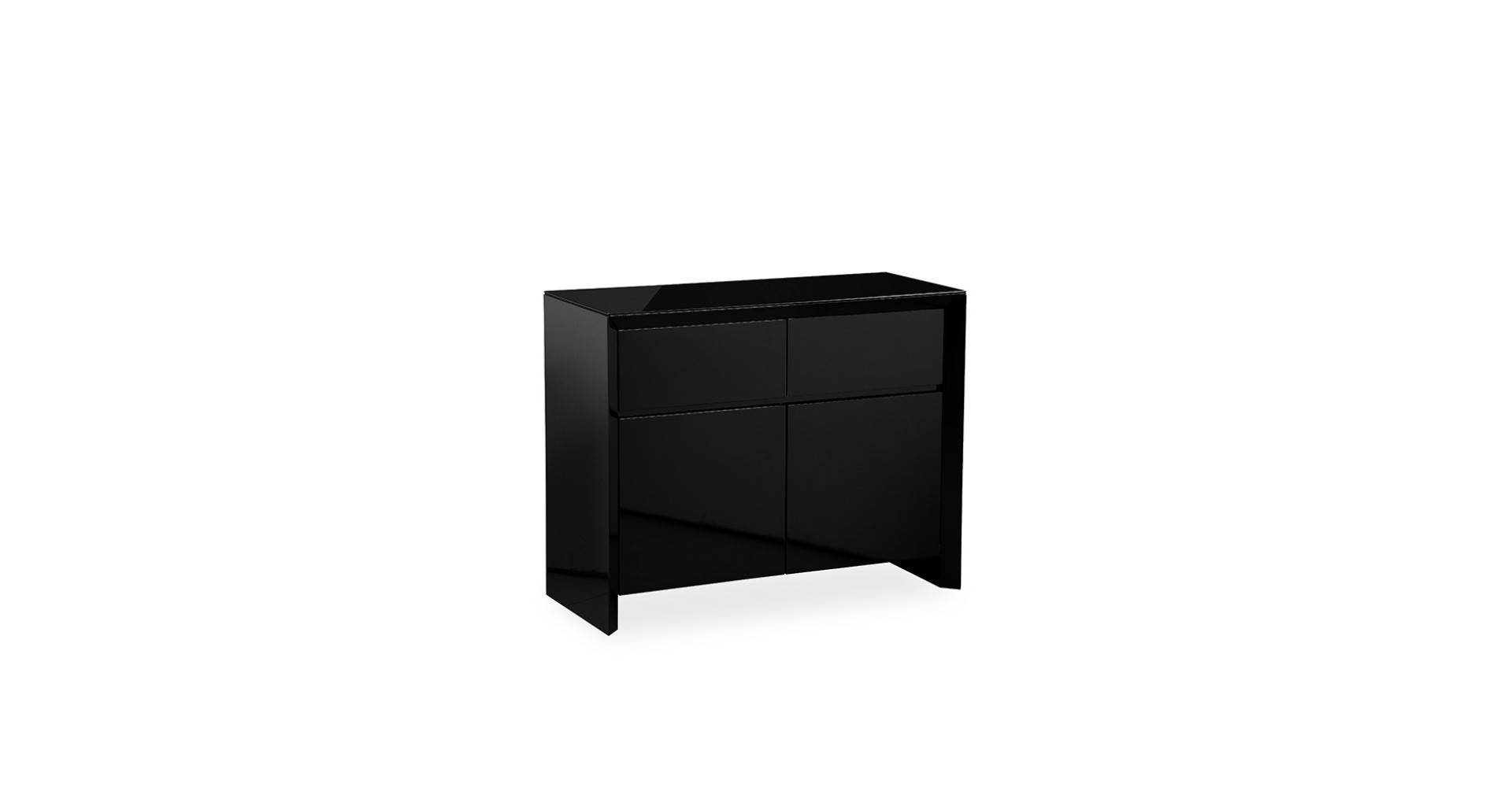 Soho - Small Sideboard - Black High Gloss pertaining to Small Black Sideboards (Image 30 of 30)