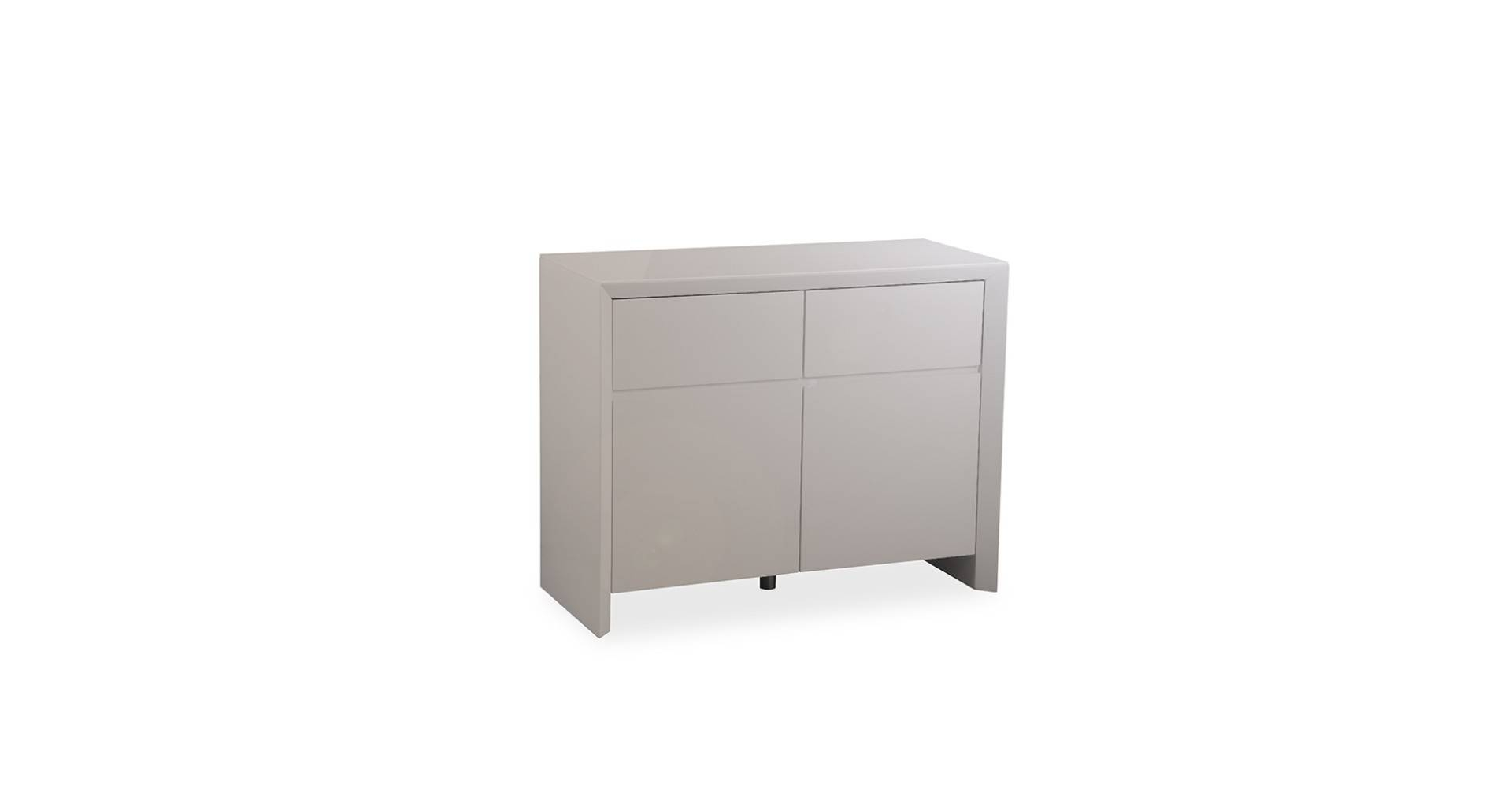 Soho - Small Sideboard - Grey High Gloss with regard to Grey Gloss Sideboards (Image 27 of 30)