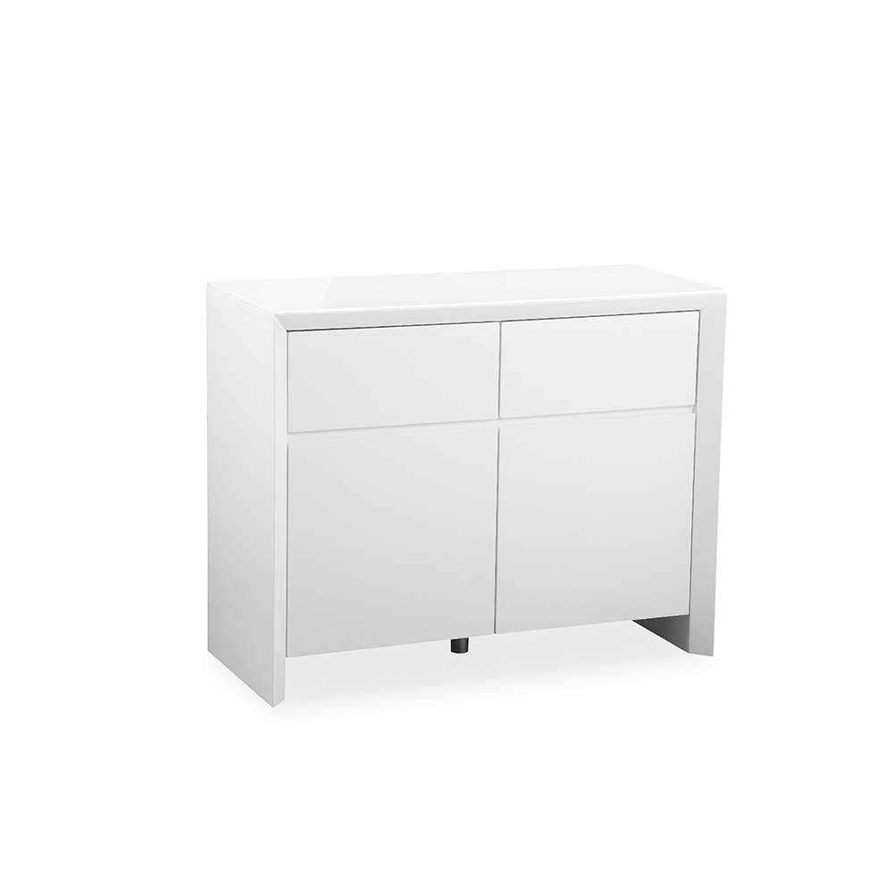 Soho White High Gloss Sideboard 100Cm - Gloss Furniture intended for Cheap White High Gloss Sideboards (Image 26 of 30)