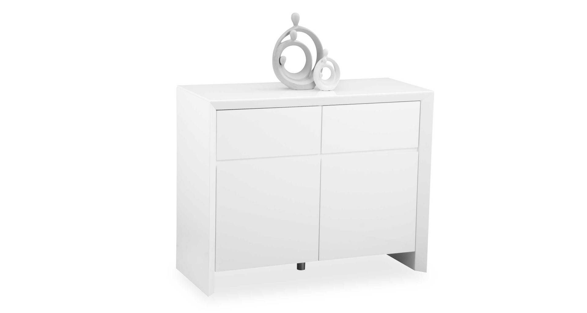 Soho - White - Small Sideboard - High Gloss regarding White Gloss Sideboards (Image 26 of 30)