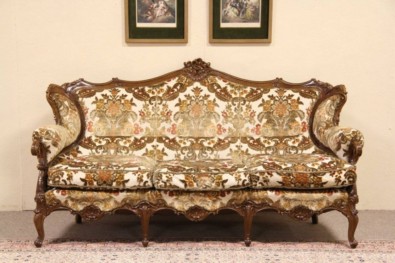 Sold - Baroque Carved Vintage Italian Sofa - Harp Gallery Antique with regard to Antique Sofa Chairs (Image 20 of 30)