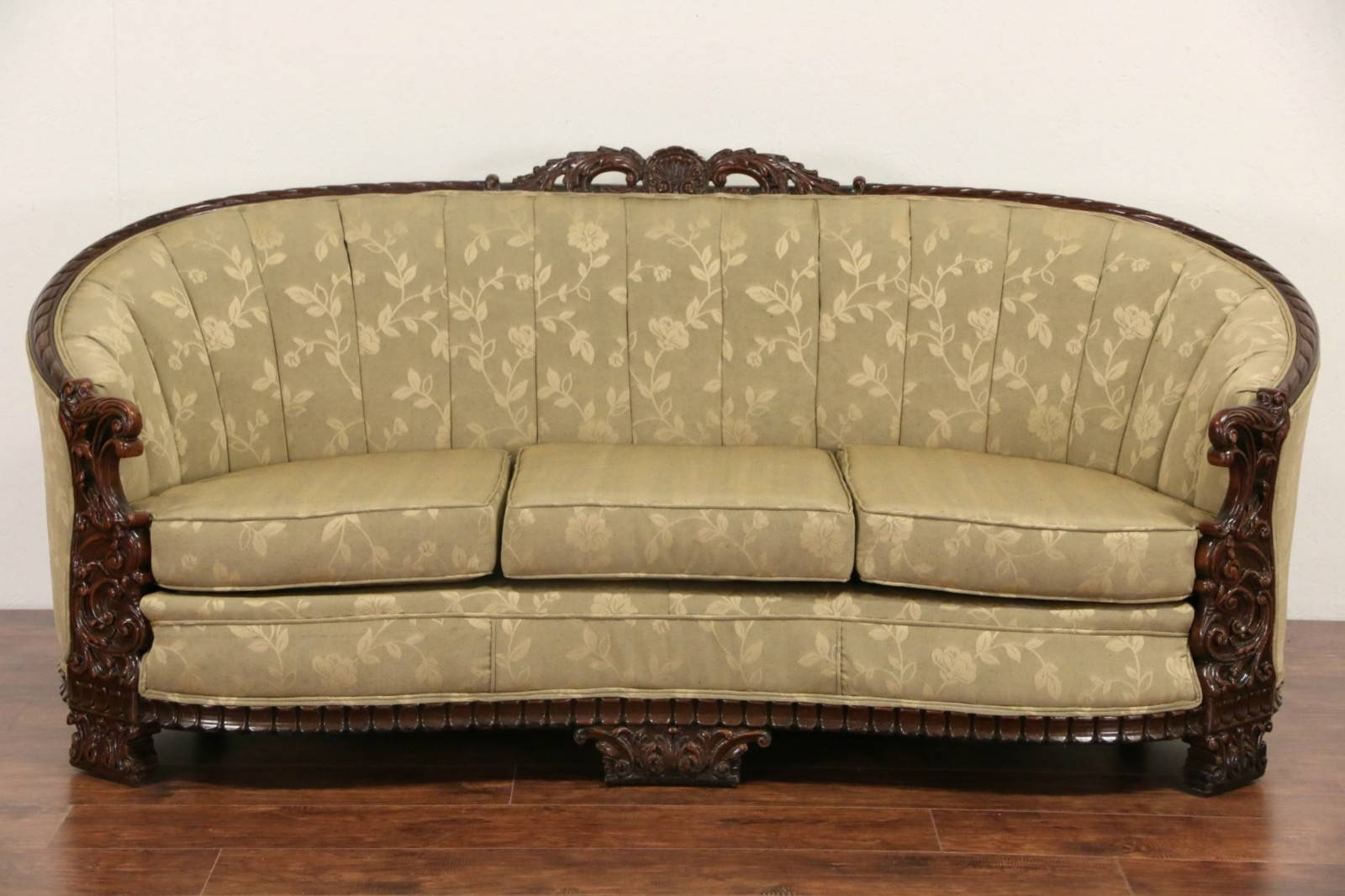 Sold - Carved Sofa & Club Chair Set, 1930's Vintage, New regarding 1930S Sofas (Image 26 of 30)