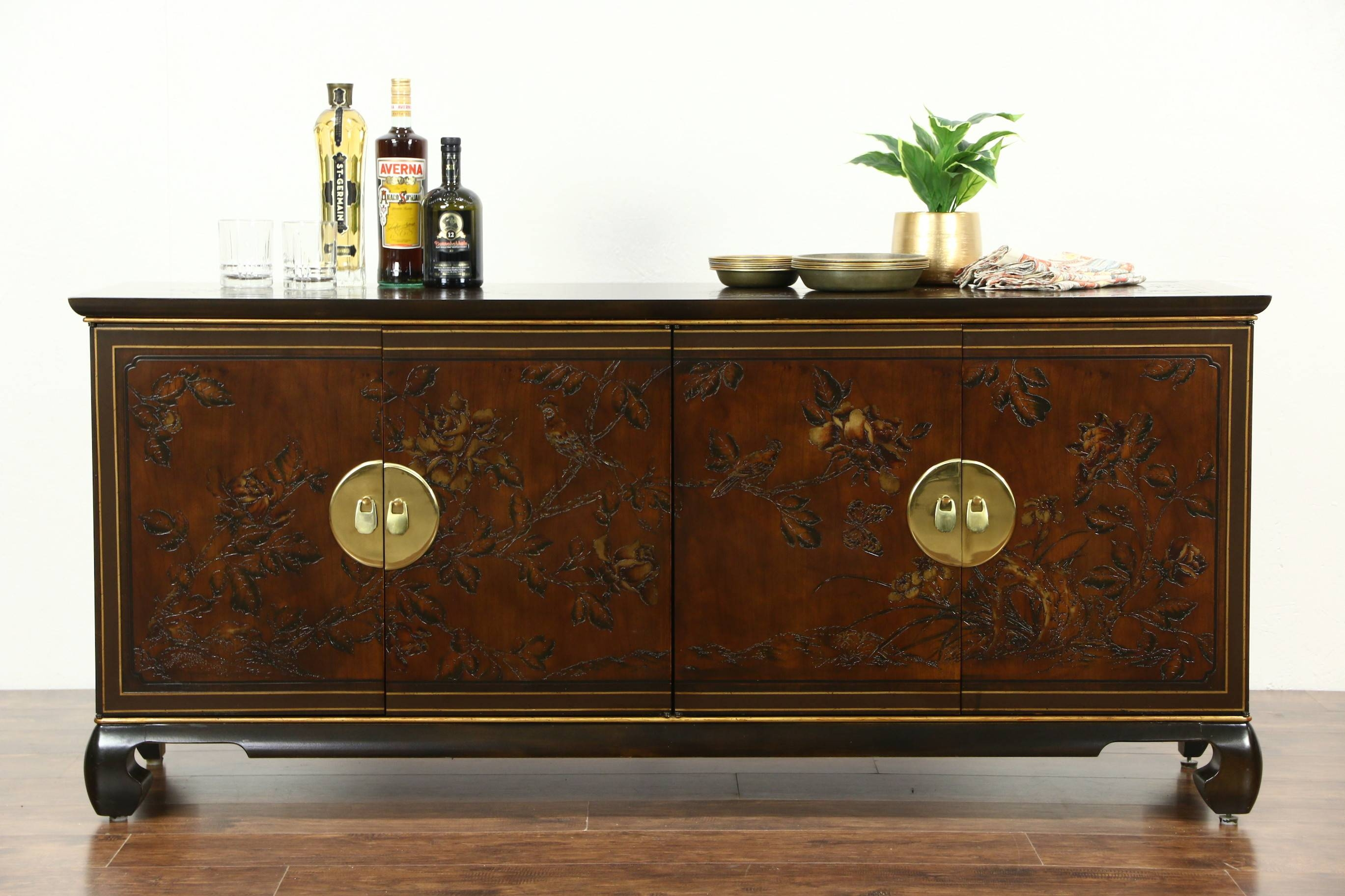 Sold - Drexel Heritage Connoisseur Chinese Vintage Sideboard for Hall Sideboards (Image 29 of 30)