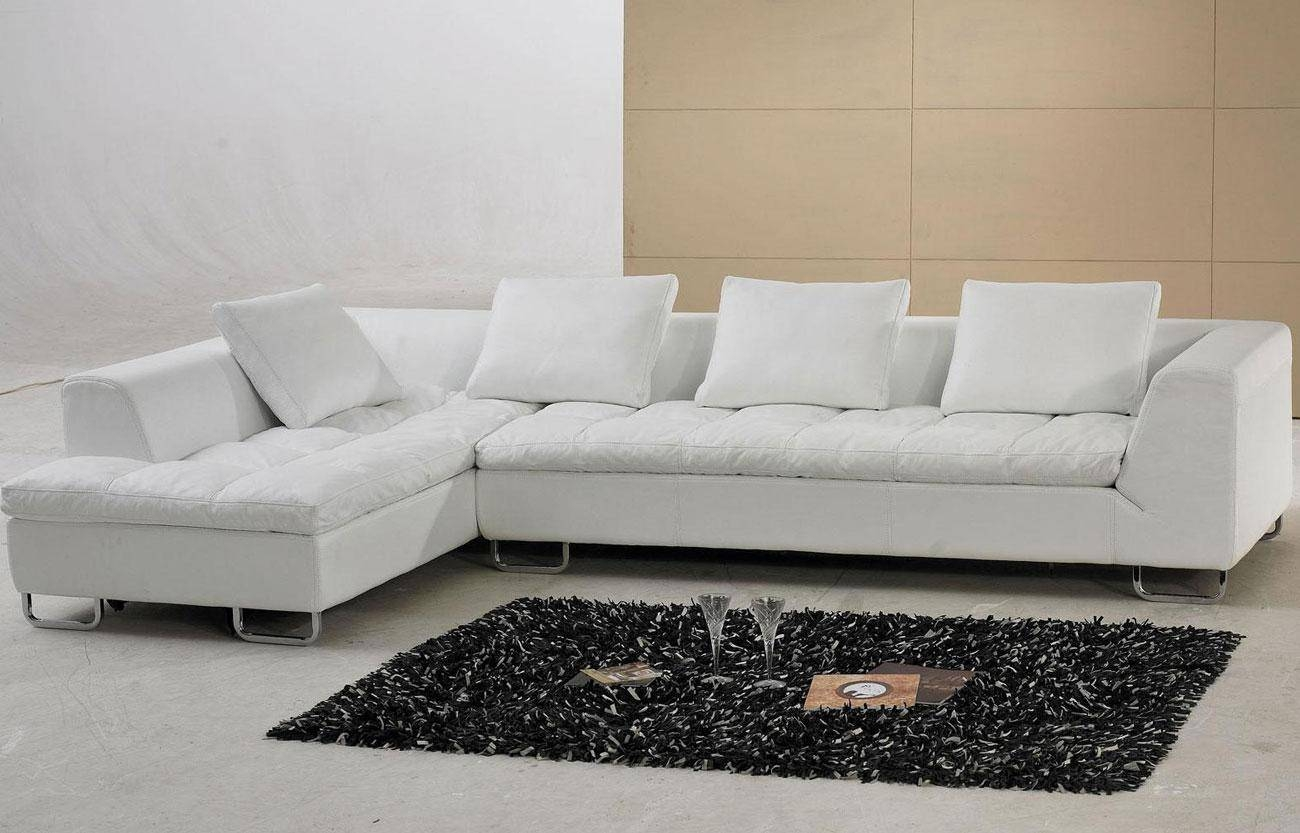 Sold White Leather Sofa - S3Net - Sectional Sofas Sale : S3Net pertaining to White Leather Sofas (Image 21 of 30)