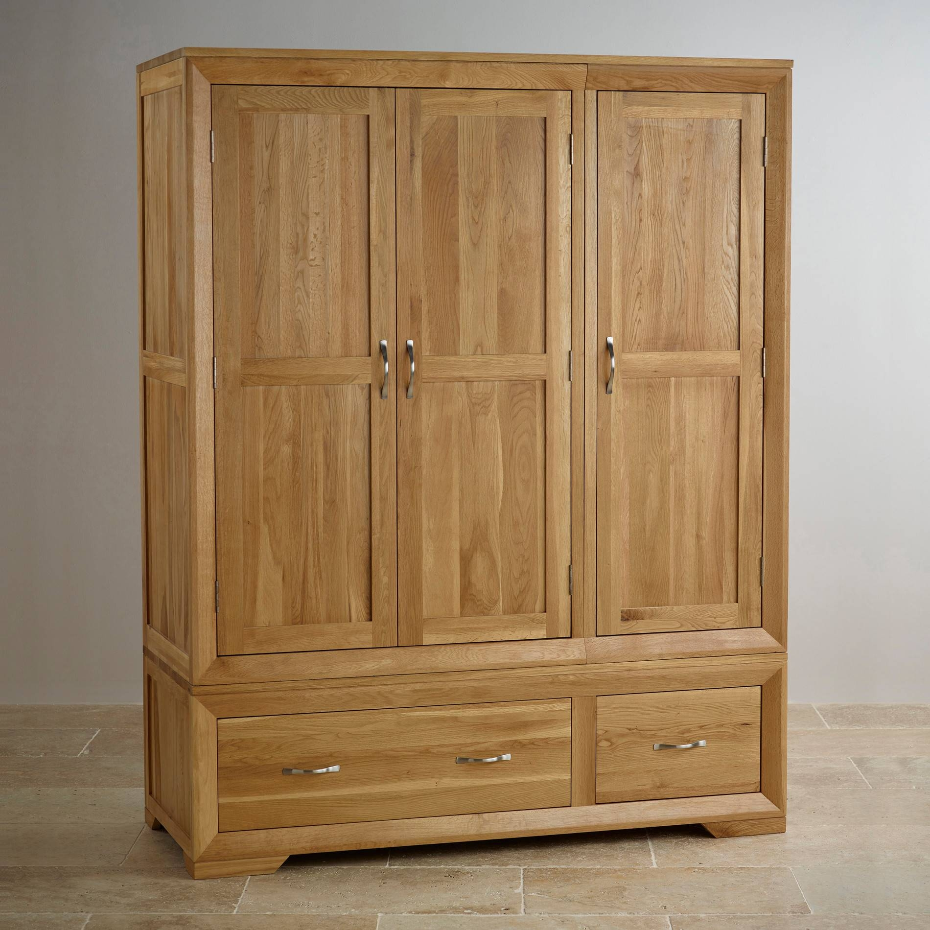 Solid Hardwood Wardrobes | Finance Available | Oak Furniture Land regarding Oak Wardrobes (Image 10 of 15)