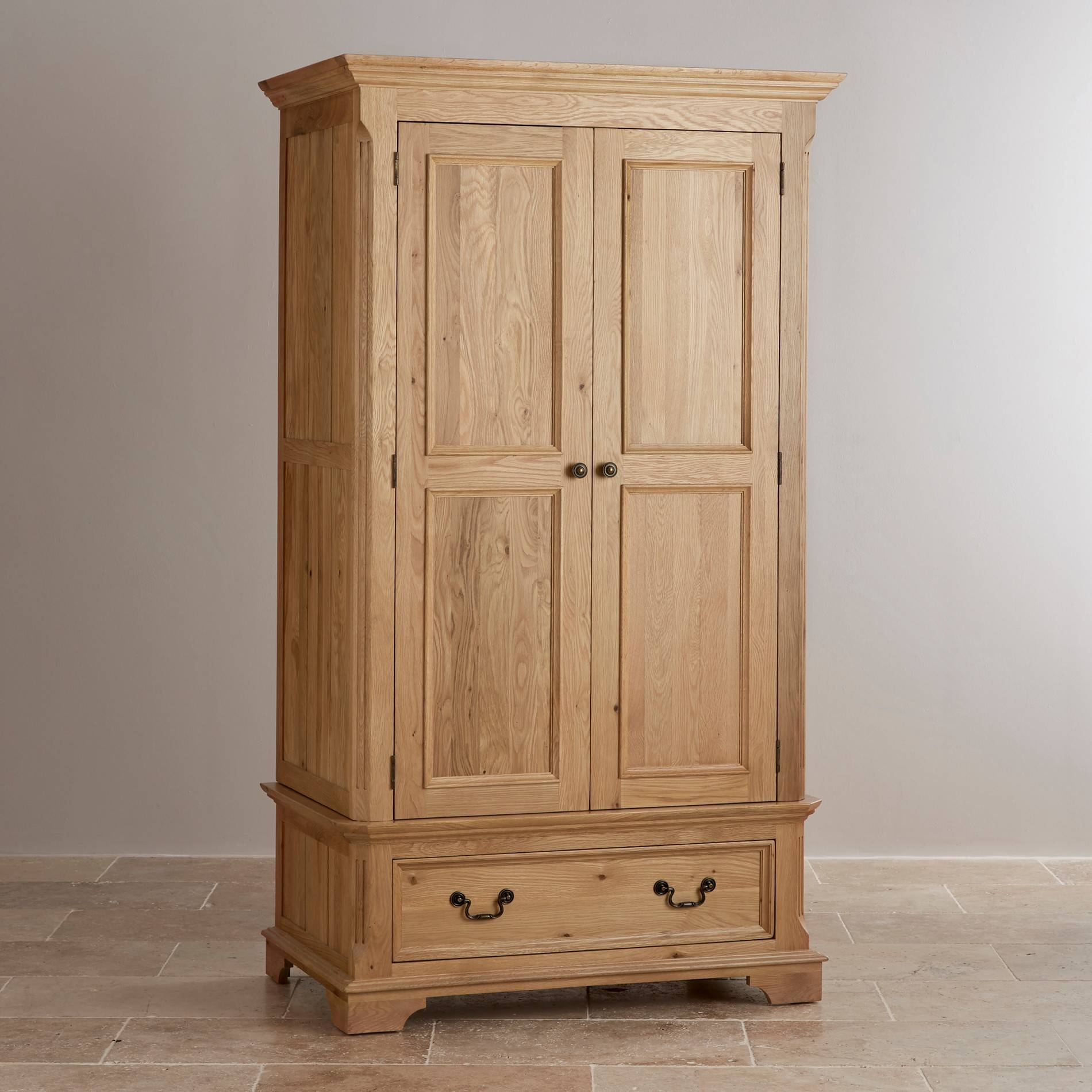 Solid Hardwood Wardrobes | Finance Available | Oak Furniture Land with Oak Wardrobes for Sale (Image 10 of 15)