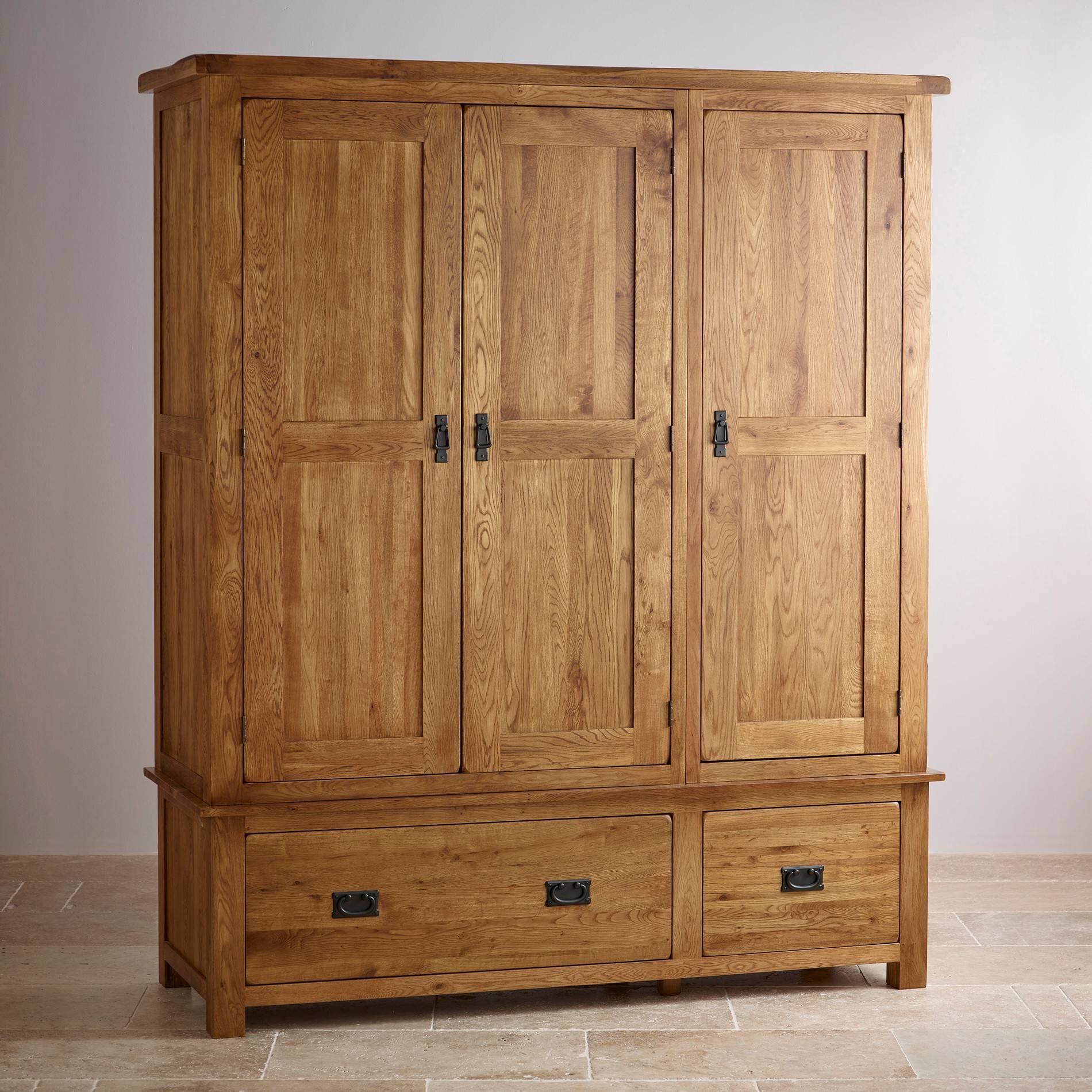 Solid Hardwood Wardrobes | Finance Available | Oak Furniture Land with Oak Wardrobes (Image 11 of 15)