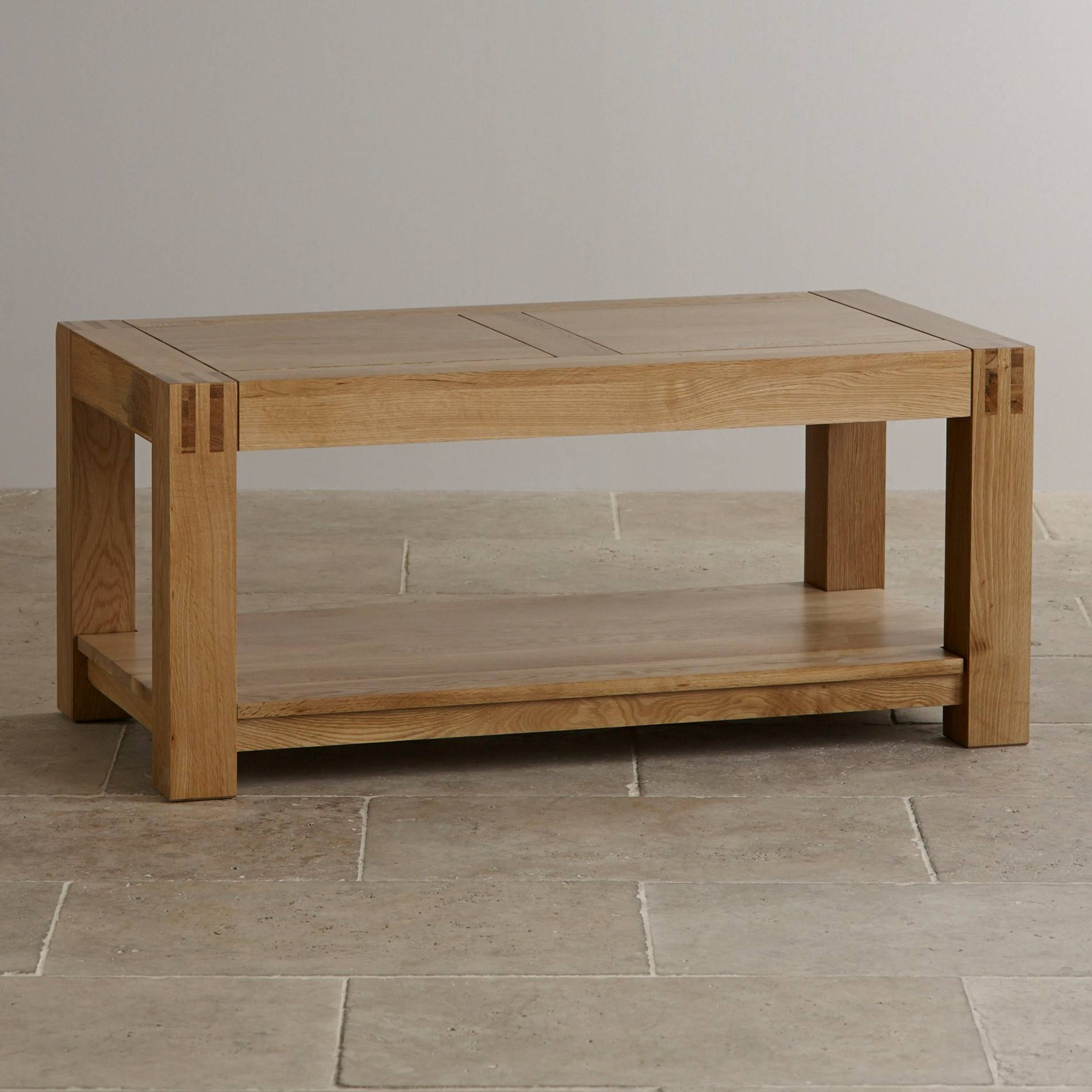 Solid Oak Coffee Table With Shelf | Coffee Tables Decoration regarding Oak Coffee Tables With Shelf (Image 27 of 30)