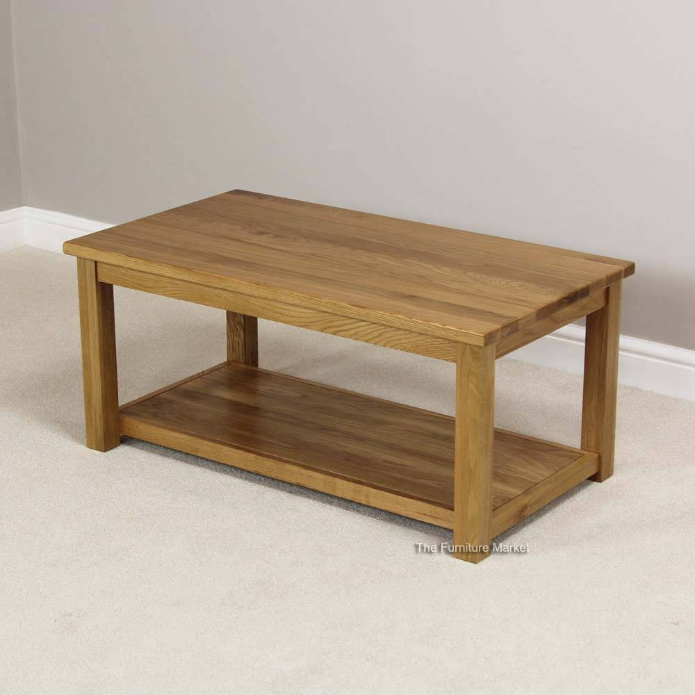 Solid Oak Coffee Table With Shelf | Coffee Tables Decoration with Oak Coffee Tables With Shelf (Image 28 of 30)