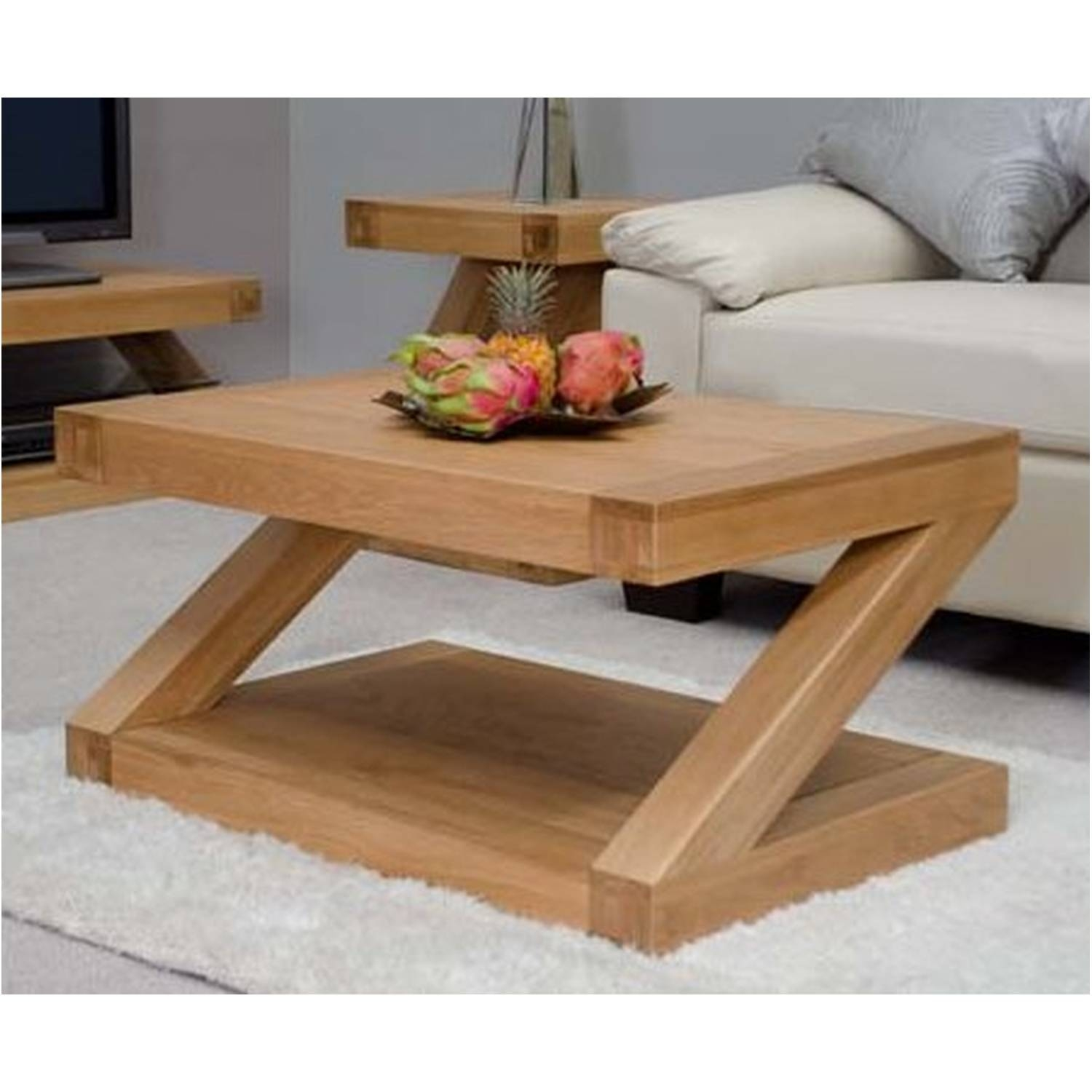 Solid Oak Coffee Tables for Oak Coffee Table Sets (Image 26 of 30)