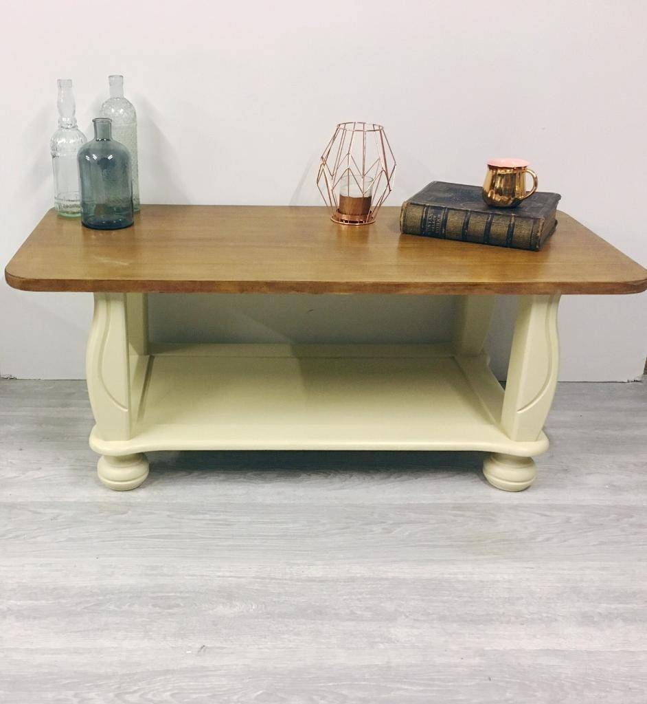 Solid Oak Cream Coffee Table | In Ruddington, Nottinghamshire regarding Oak and Cream Coffee Tables (Image 27 of 30)