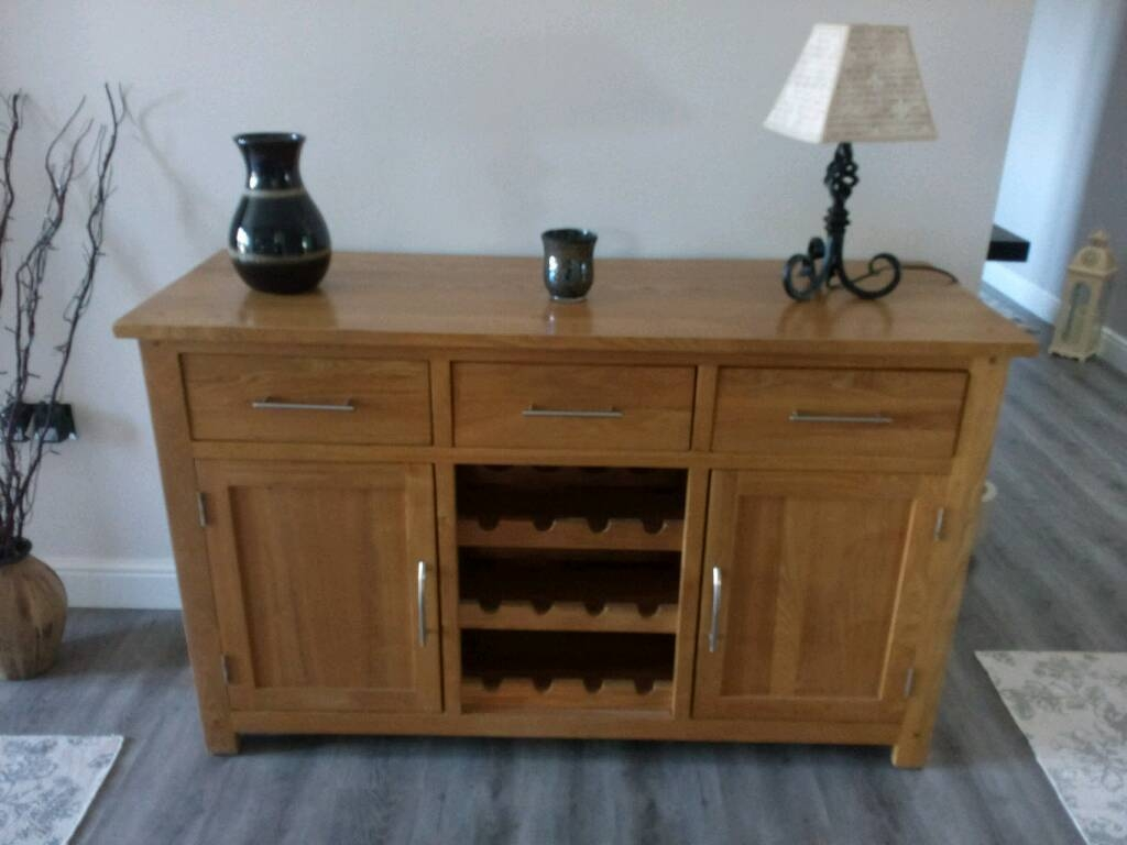 Solid Oak Sideboard And Wine Rack | In Norwich, Norfolk | Gumtree intended for Oak Sideboards With Wine Rack (Image 25 of 30)