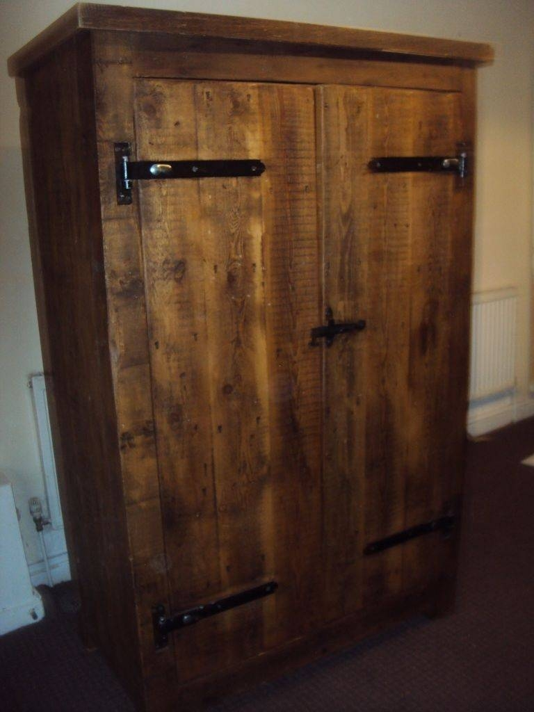 Solid Oak Wardrobe Dark Wood Vintage Antique.. | In Eccles with Dark Wood Wardrobes (Image 21 of 30)