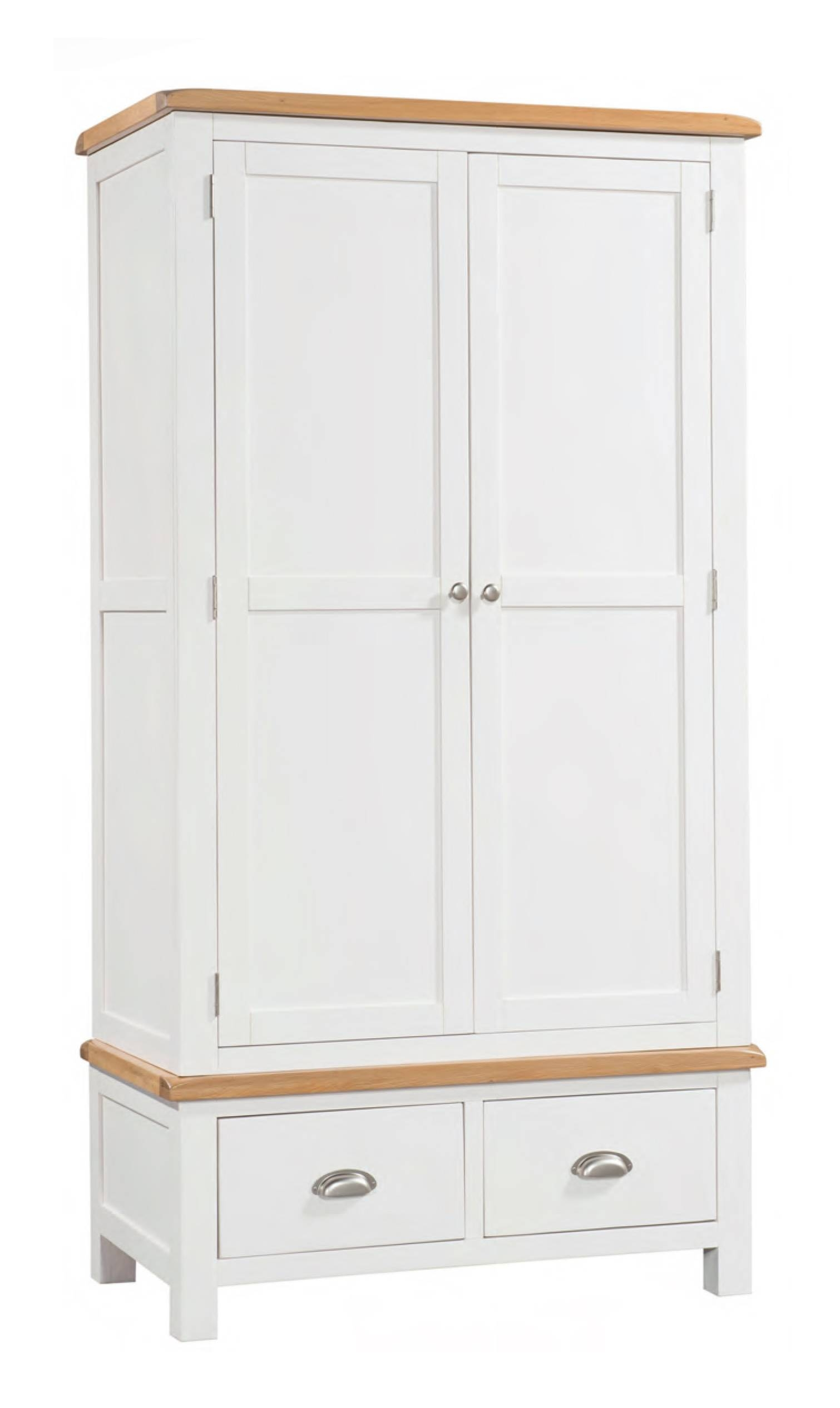 Solid Oak Wardrobes | Painted & Walnut Wardrobes | Free Delivery inside Double Rail Wardrobe With Drawers (Image 20 of 30)