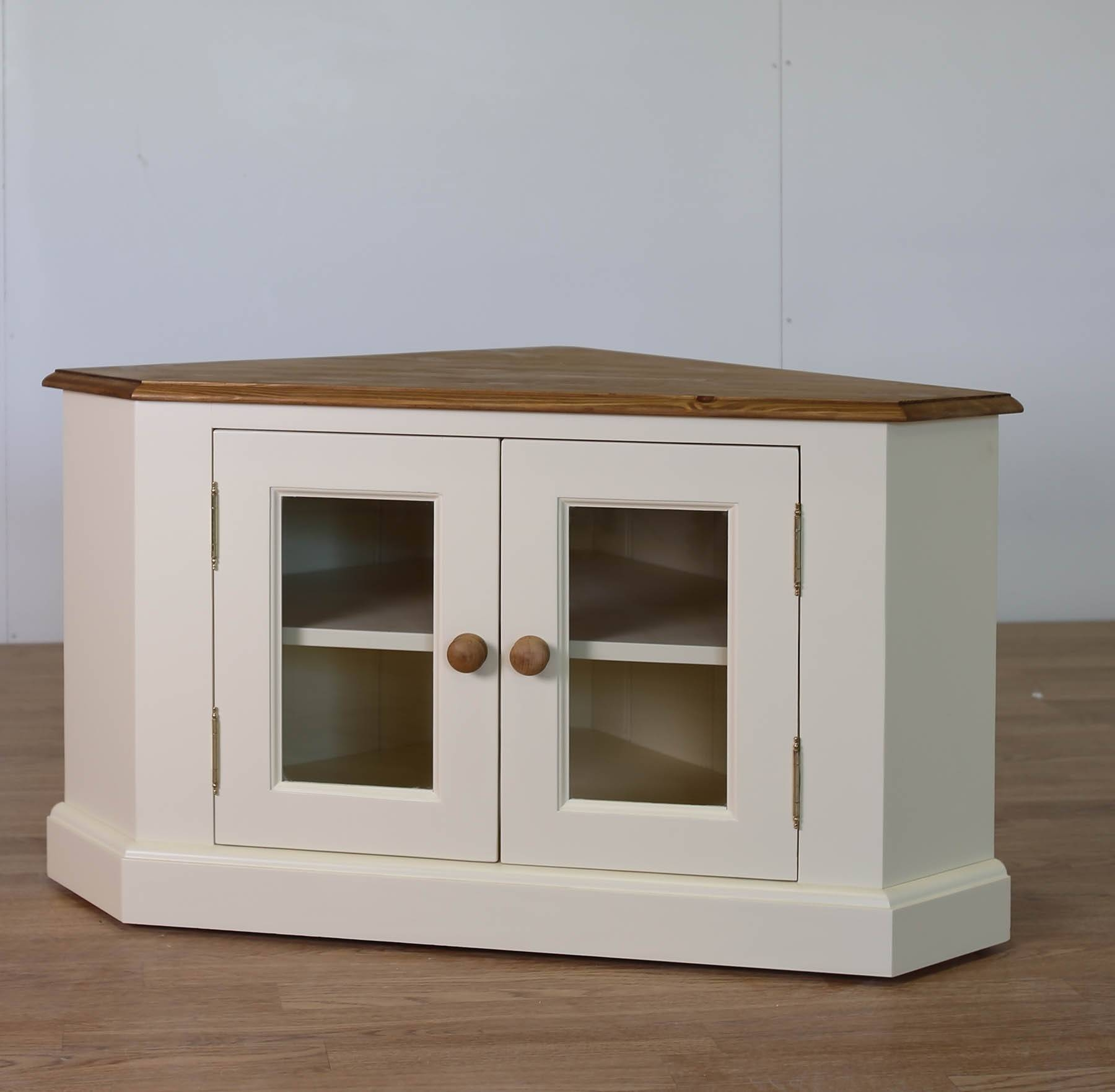 Solid Pine Painted Glazed Tv Corner Unit - Furniture4Yourhome.co with Corner Sideboard Units (Image 27 of 30)