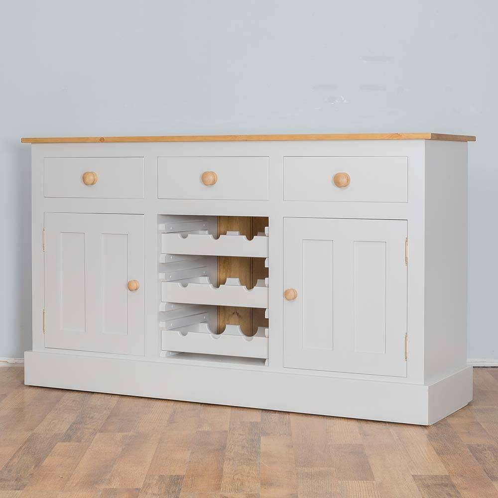 Solid Pine Painted Wine Rack Sideboard | Furniture4Yourhome pertaining to Sideboards With Wine Racks (Image 26 of 30)