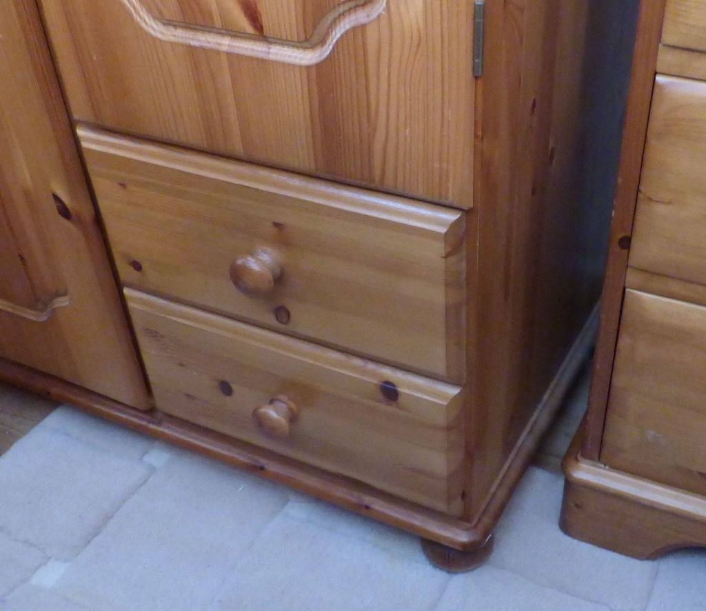 Solid Pine Wardrobe & Top Blanket Cupboard Drawers Shelves for Pine Wardrobe With Drawers And Shelves (Image 25 of 30)