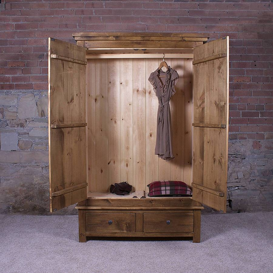 Solid Wood Gentlemen's Wardrobeh&f | Notonthehighstreet intended for Cheap Solid Wood Wardrobes (Image 13 of 15)