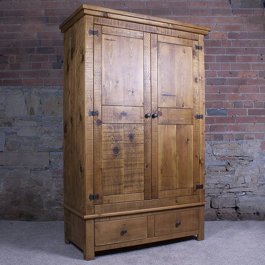 Solid Wood Gentlemen's Wardrobeh&f | Notonthehighstreet intended for Cheap Solid Wood Wardrobes (Image 12 of 15)
