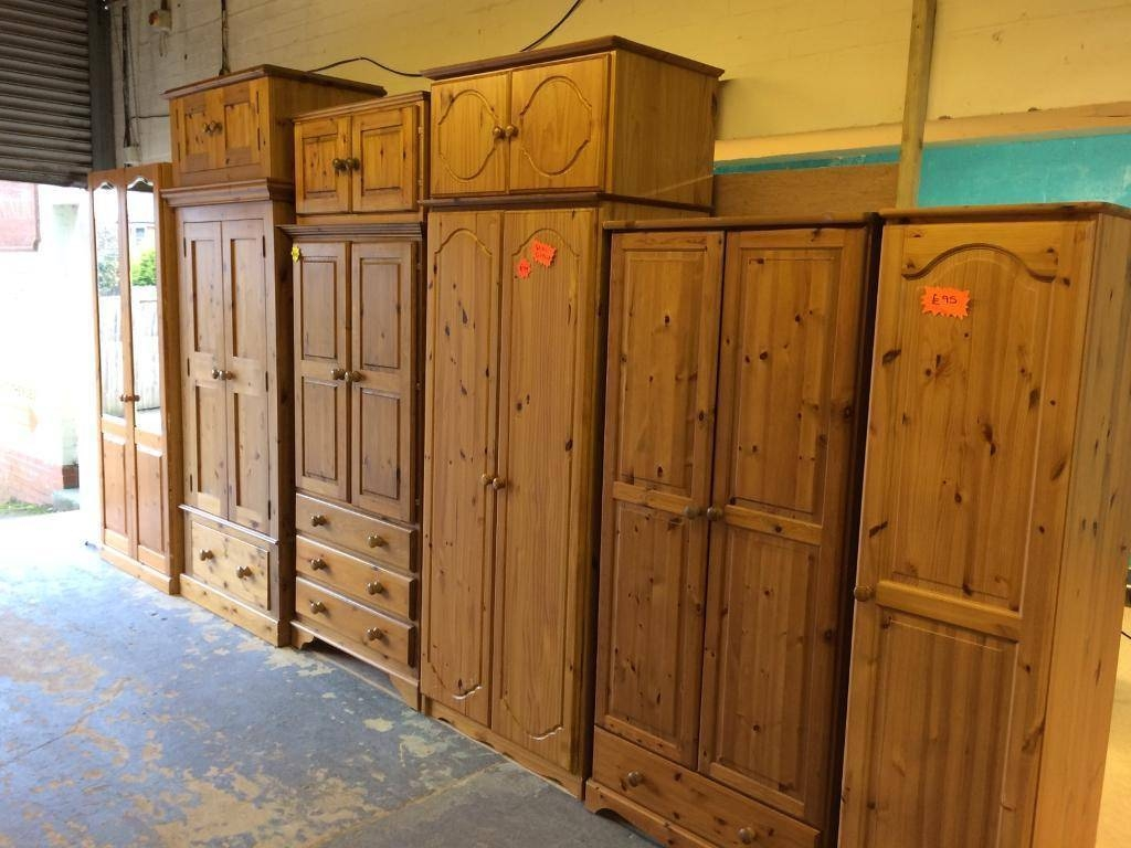 Solid Wood / Pine Single And Double Wardrobes | In Acocks Green within Single Pine Wardrobes (Image 13 of 15)