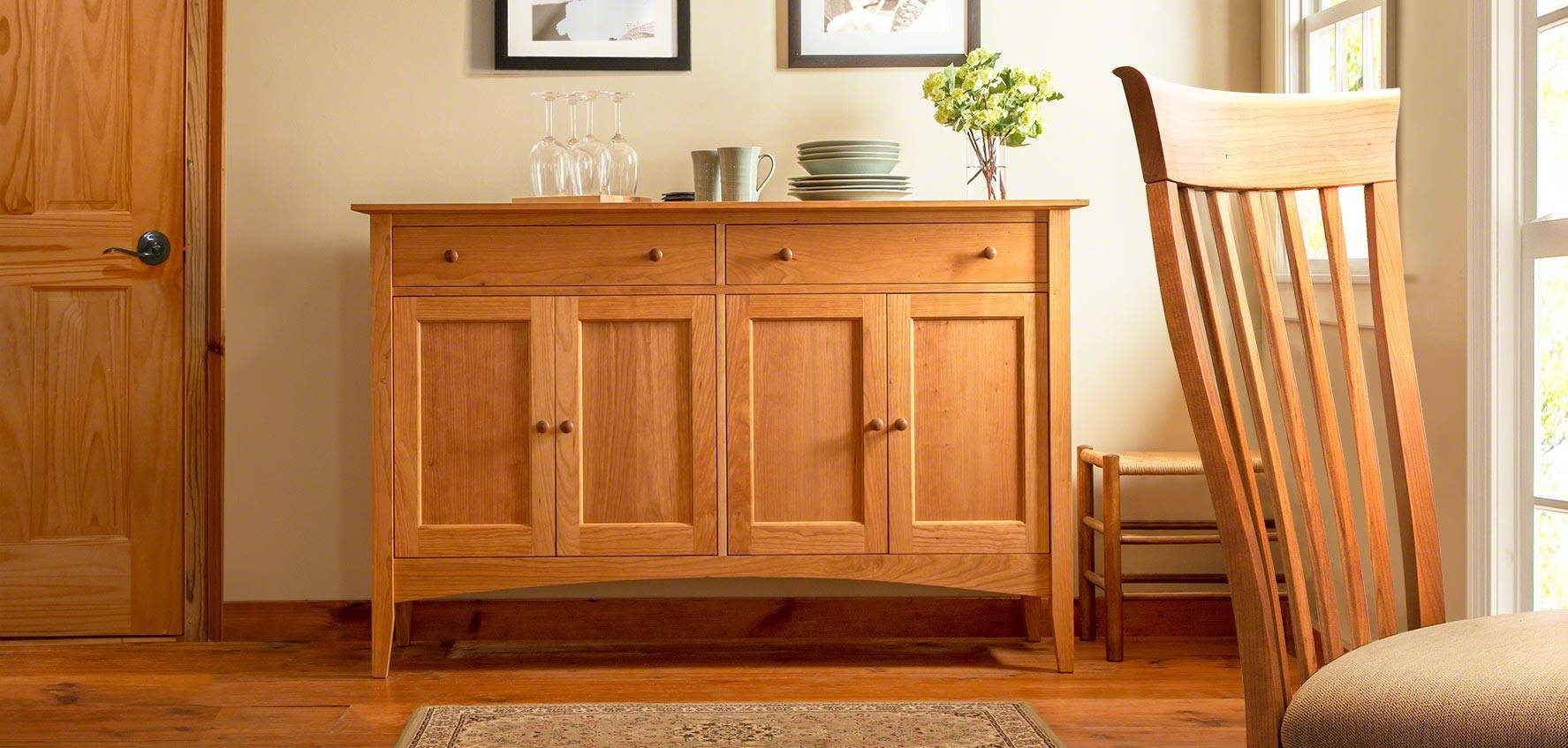 Solid Wood Sideboards, Buffets, & Hutches - Vermont Woods Studios for Wood Sideboards (Image 29 of 30)