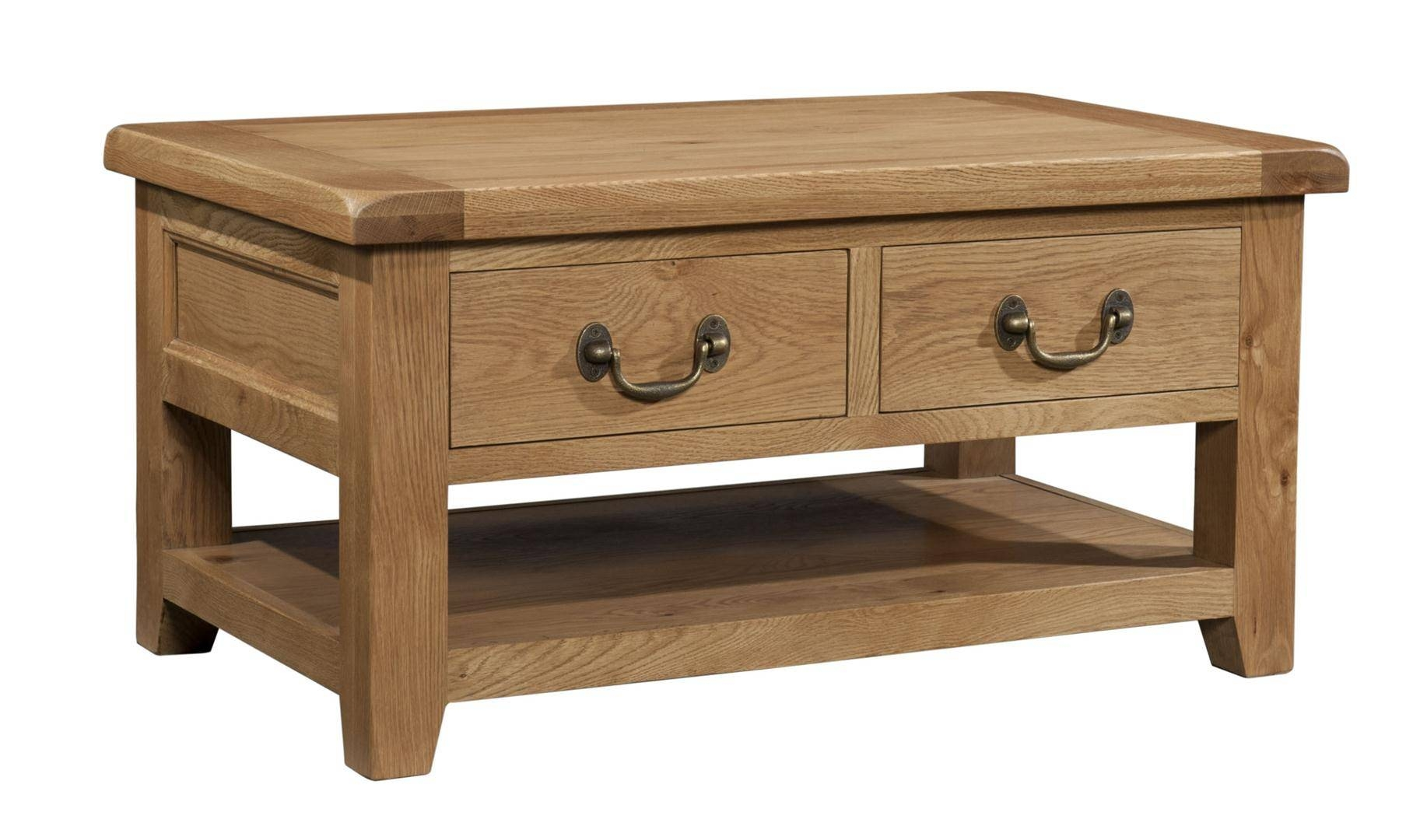 Somerset Chunky Oak Furniture : Somerset Chunky Oak Coffee Table Intended For Chunky Oak Coffee Tables (View 30 of 30)