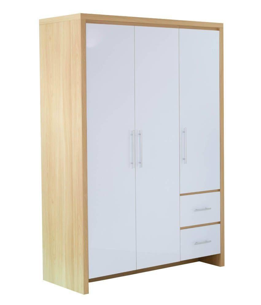 Sonoma Vanity 3 Door Wardrobe: Buy Online At Best Price In India with Oak 3 Door Wardrobes (Image 13 of 15)