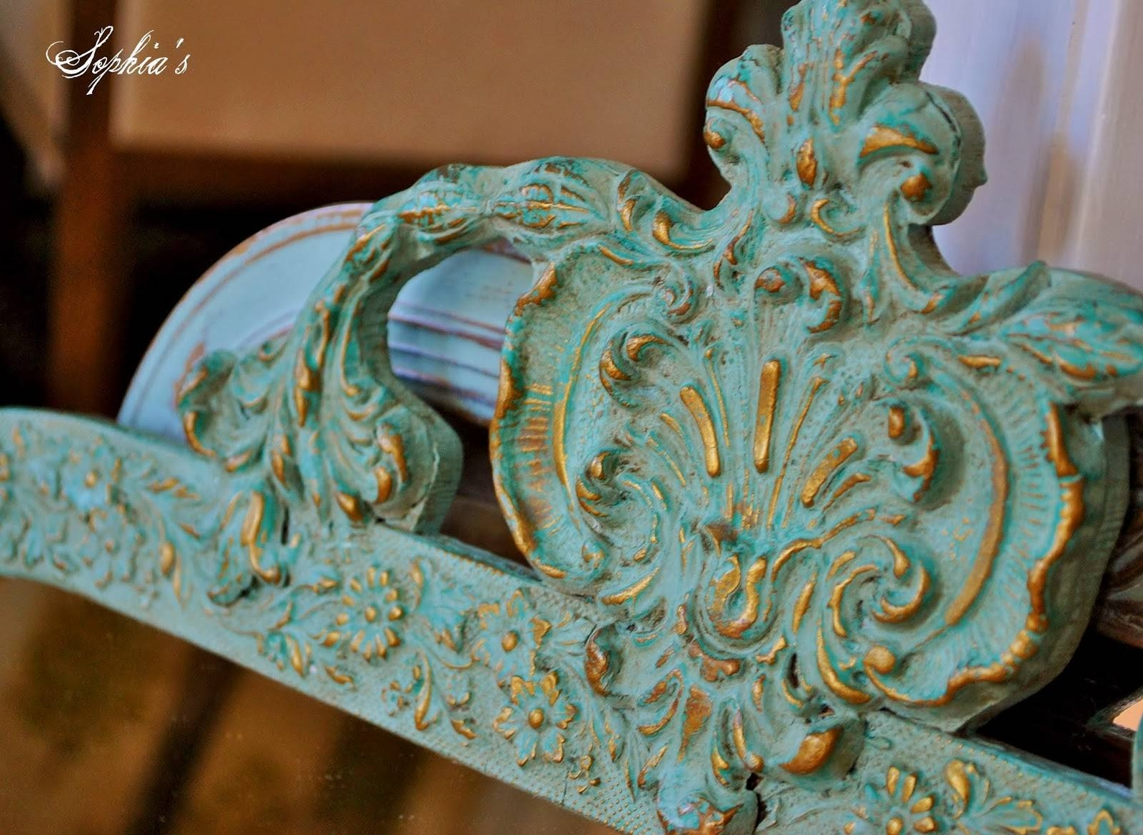 Sophia's: Updating Mirrors With Chalk Paint for Ornate Gold Mirrors (Image 23 of 25)