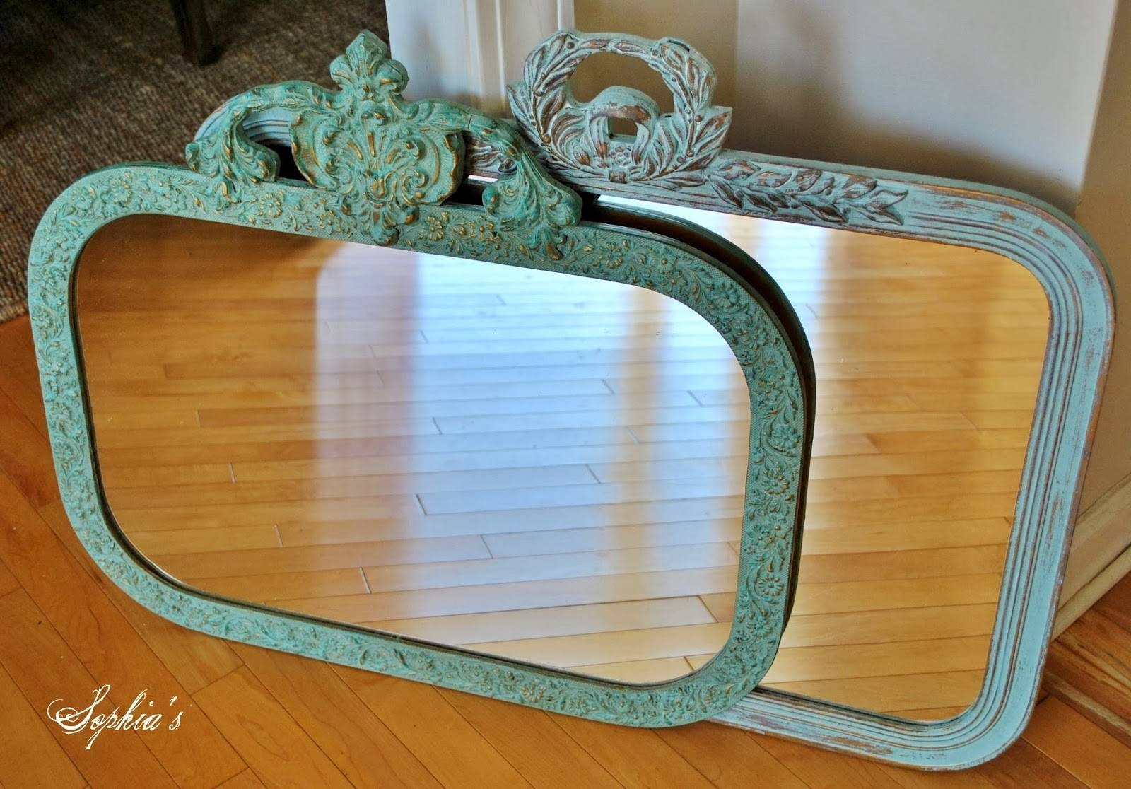 Sophia's: Updating Mirrors With Chalk Paint regarding Mirrors With Blue Frame (Image 24 of 25)