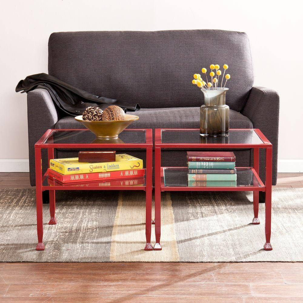 Southern Enterprises Red Coffee Table-Hd864754 - The Home Depot with regard to Red Coffee Table (Image 28 of 30)