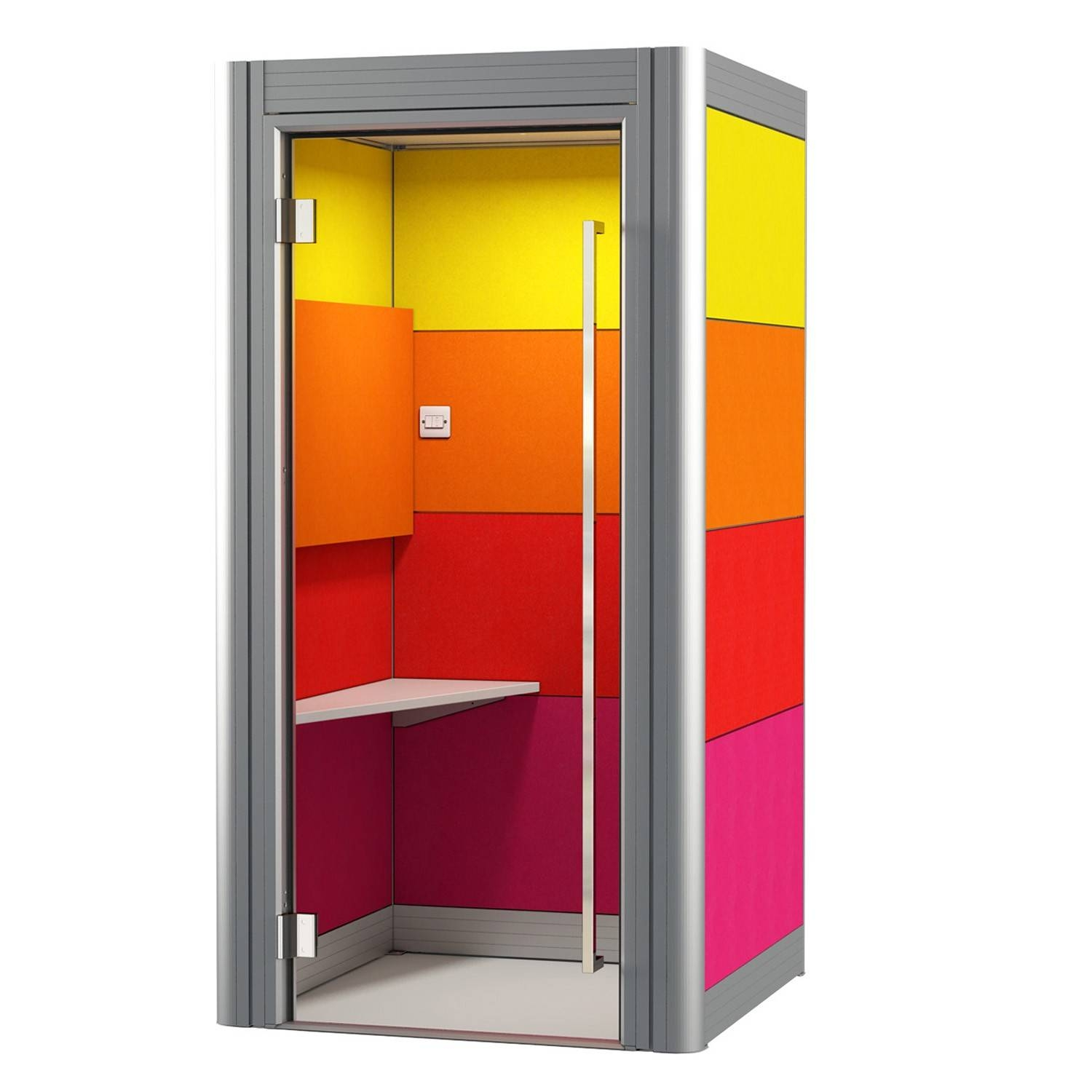 Spacio Phone Booths | Acoustic Office Phone Booths | Apres Furniture throughout Telephone Box Wardrobes (Image 14 of 15)