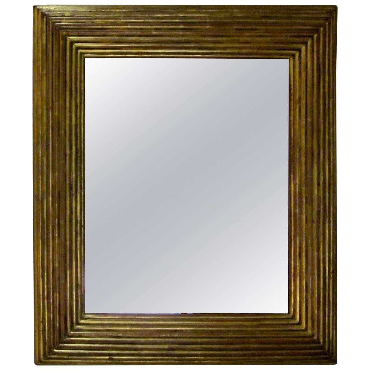 Spanish Gold Gilt Ribbed Wood Frame Mirror, Circa 19Th Century For intended for Gilt Framed Mirrors (Image 21 of 25)