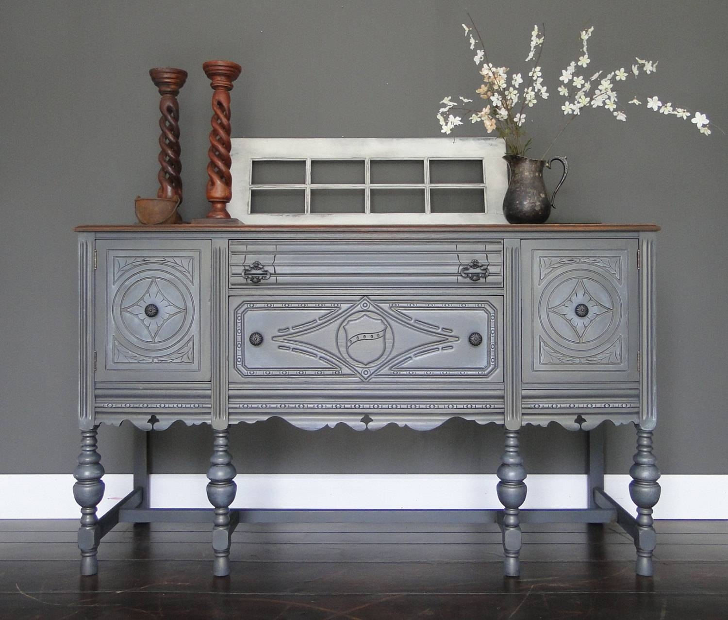 Splendid Dark Grey Oak Sideboard With Modern Style Using Cabinet intended for Dark Grey Sideboards (Image 26 of 30)