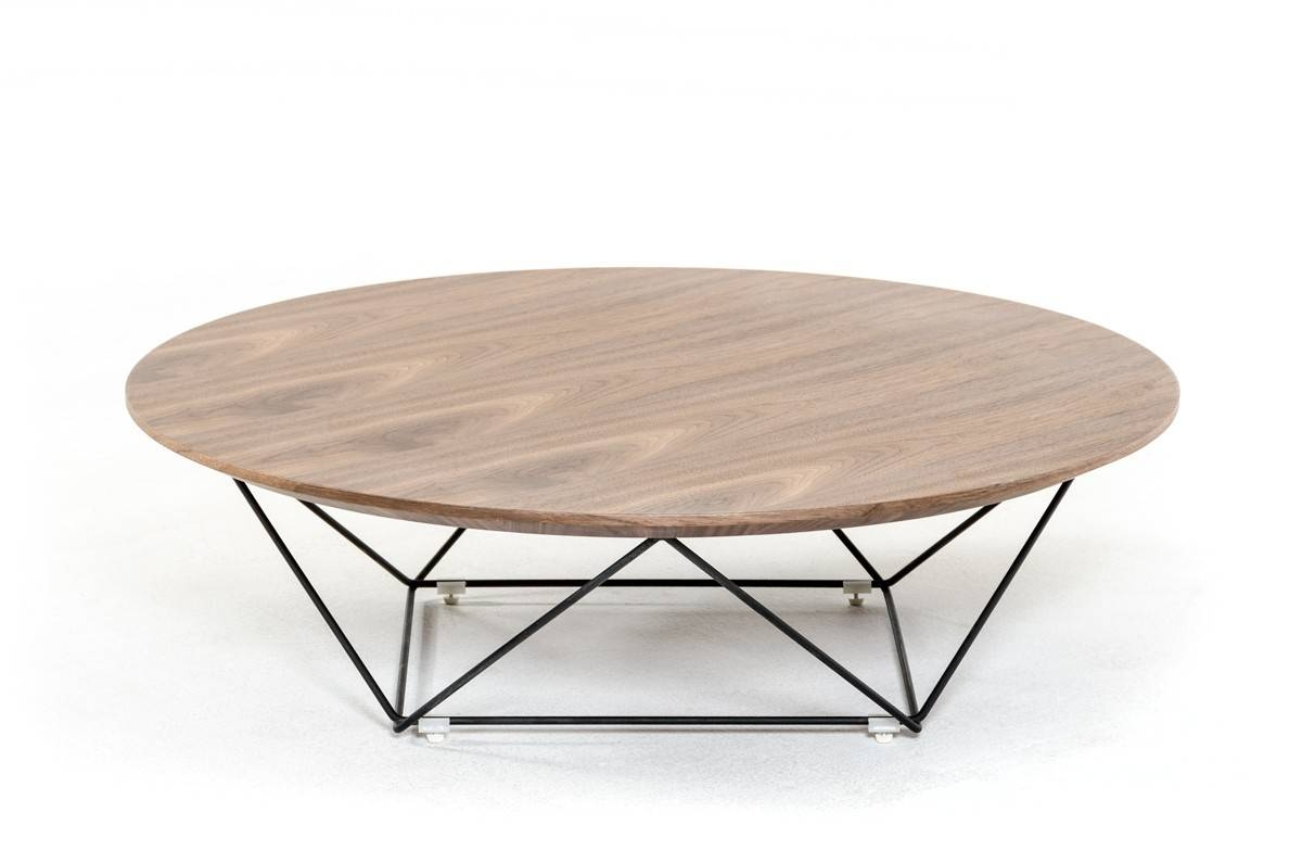 Spoke Modern Walnut Coffee Table within Oval Walnut Coffee Tables (Image 26 of 30)