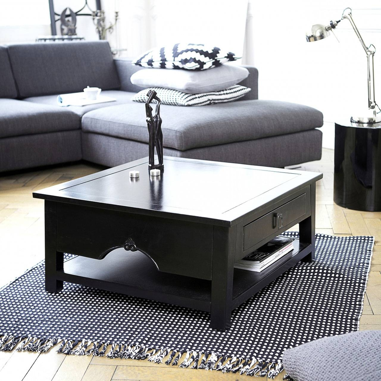 Square Coffee Table As Your Home Furnishing - Chocoaddicts throughout Square Black Coffee Tables (Image 28 of 30)